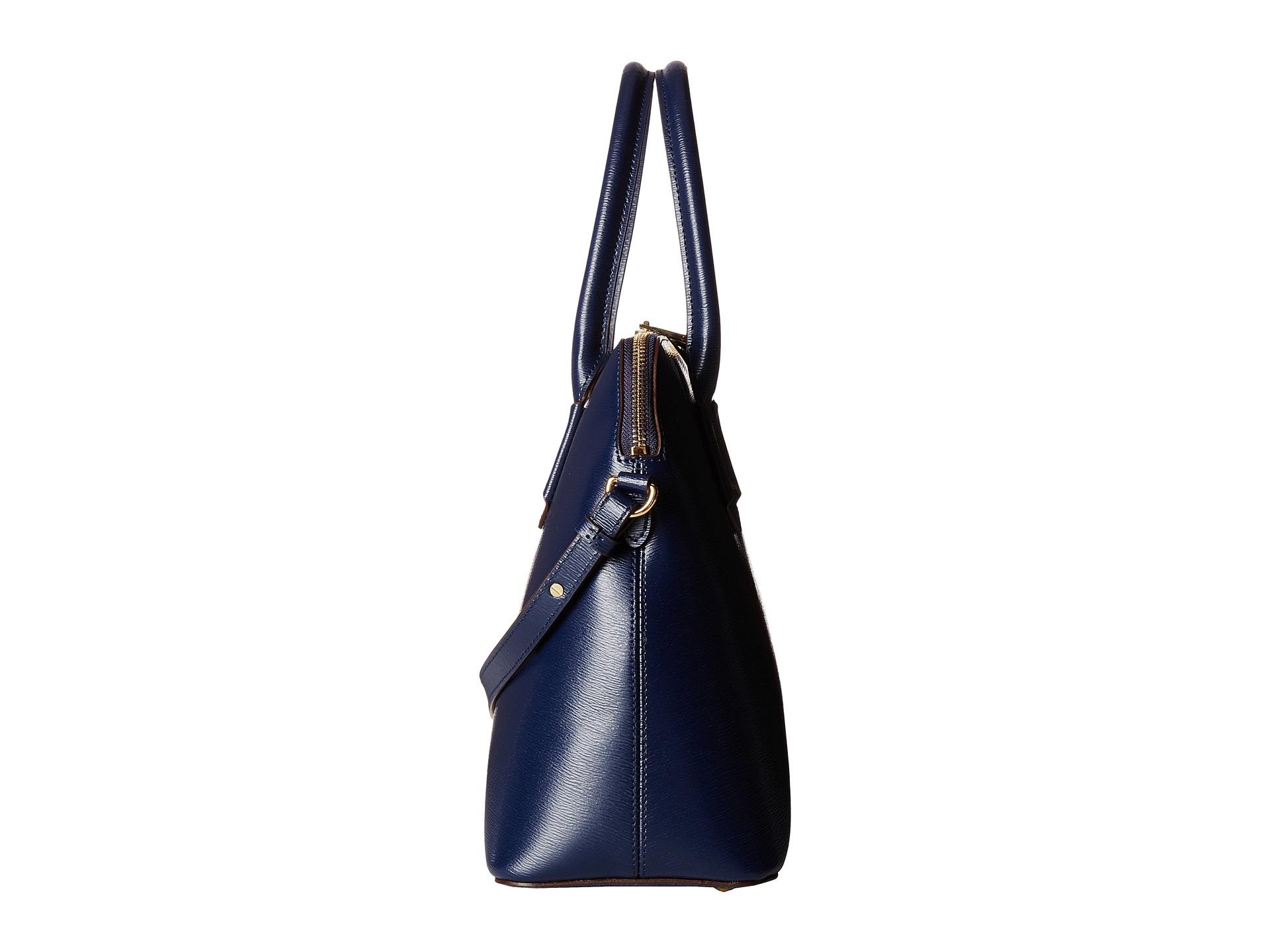 3aee93c9ea Lyst - Lauren by Ralph Lauren Tate Dome Satchel in Blue