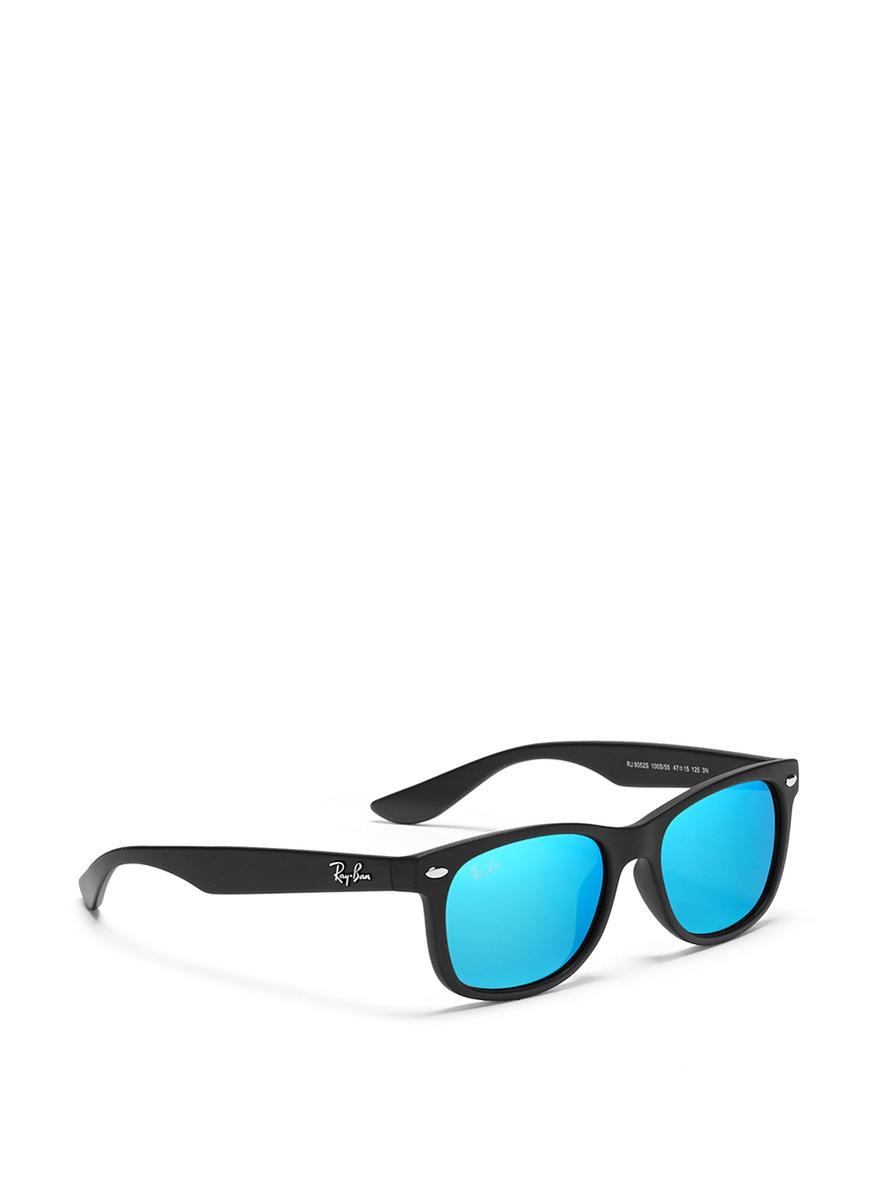 8c15c1e166 Lyst - Ray-Ban  New Wayfarer Junior  Matte Plastic Mirror Sunglasses in Blue  for Men