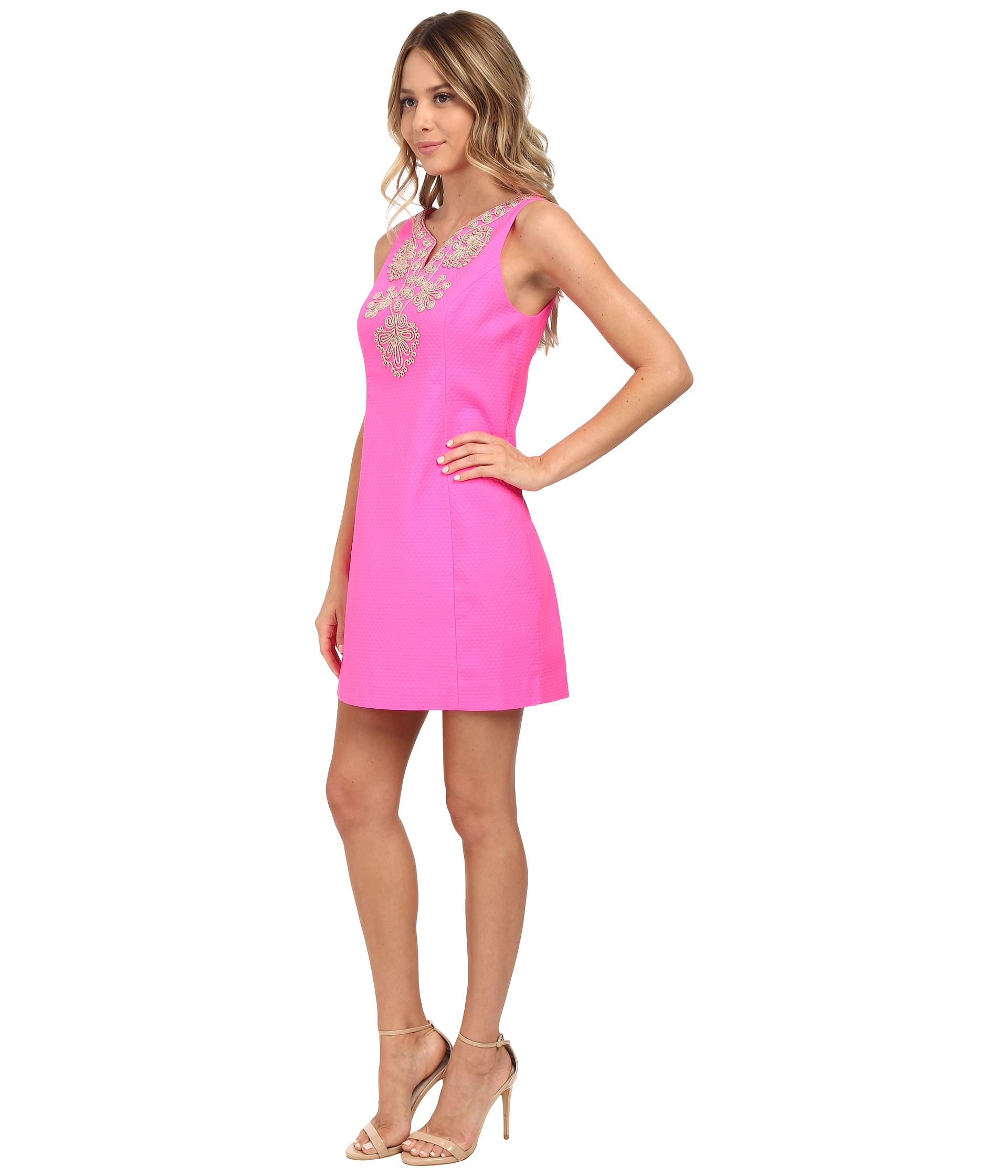 Lilly pulitzer Gabby Shift Dress in Pink | Lyst
