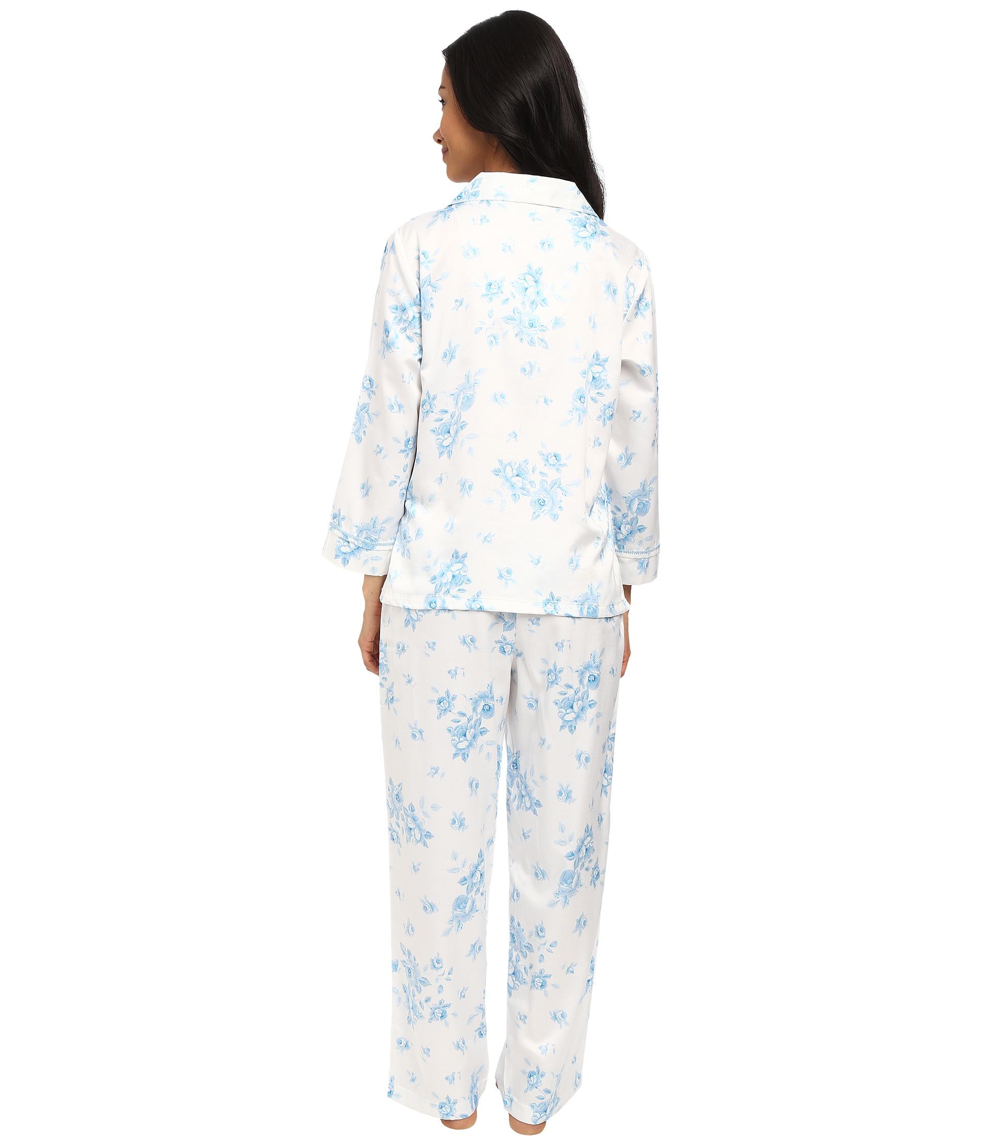 Lyst Carole Hochman Petite Packaged Brush Back Satin Pajama in Blue