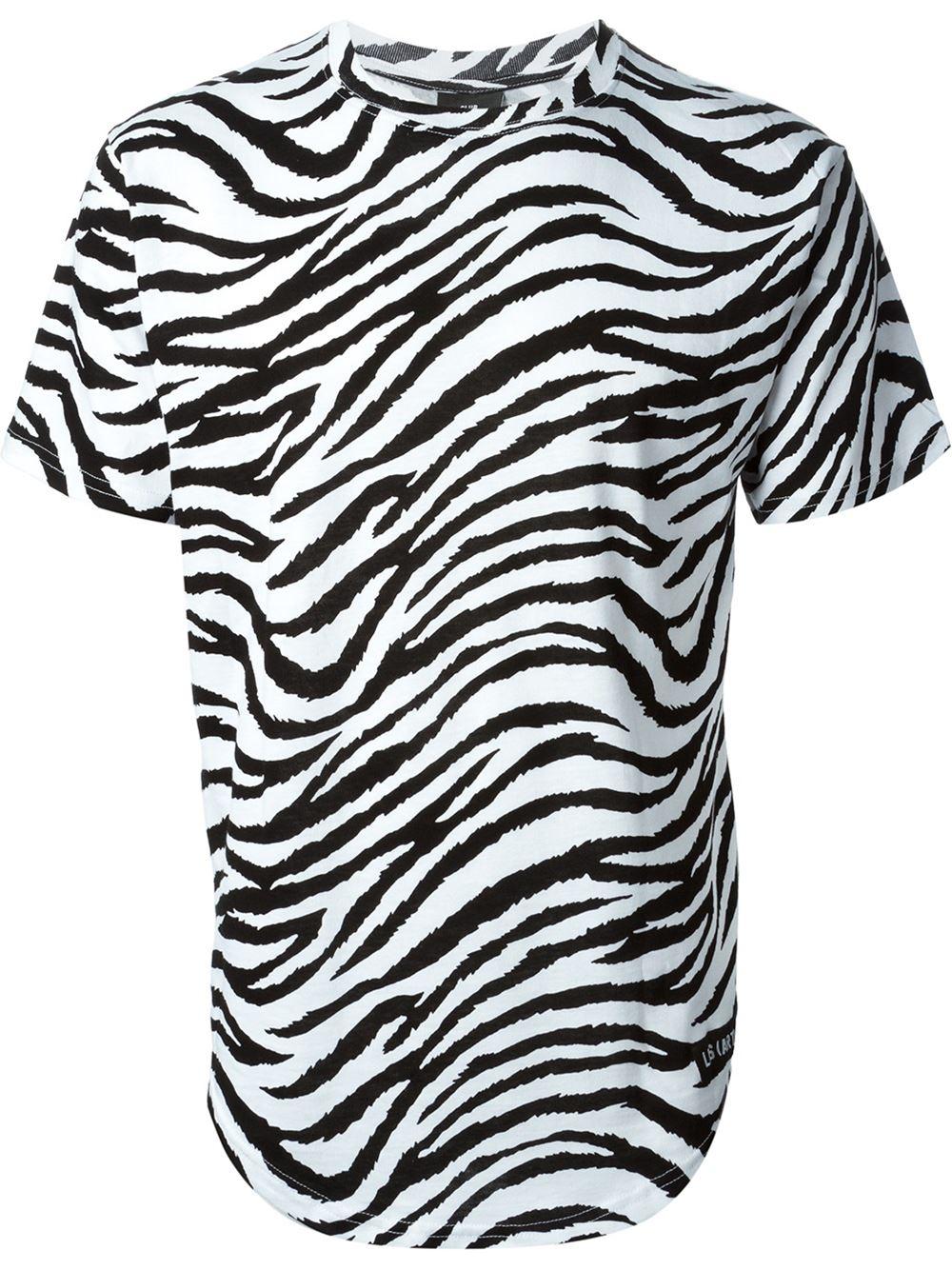 Zebra T Shirt Lyst - Les (Art...