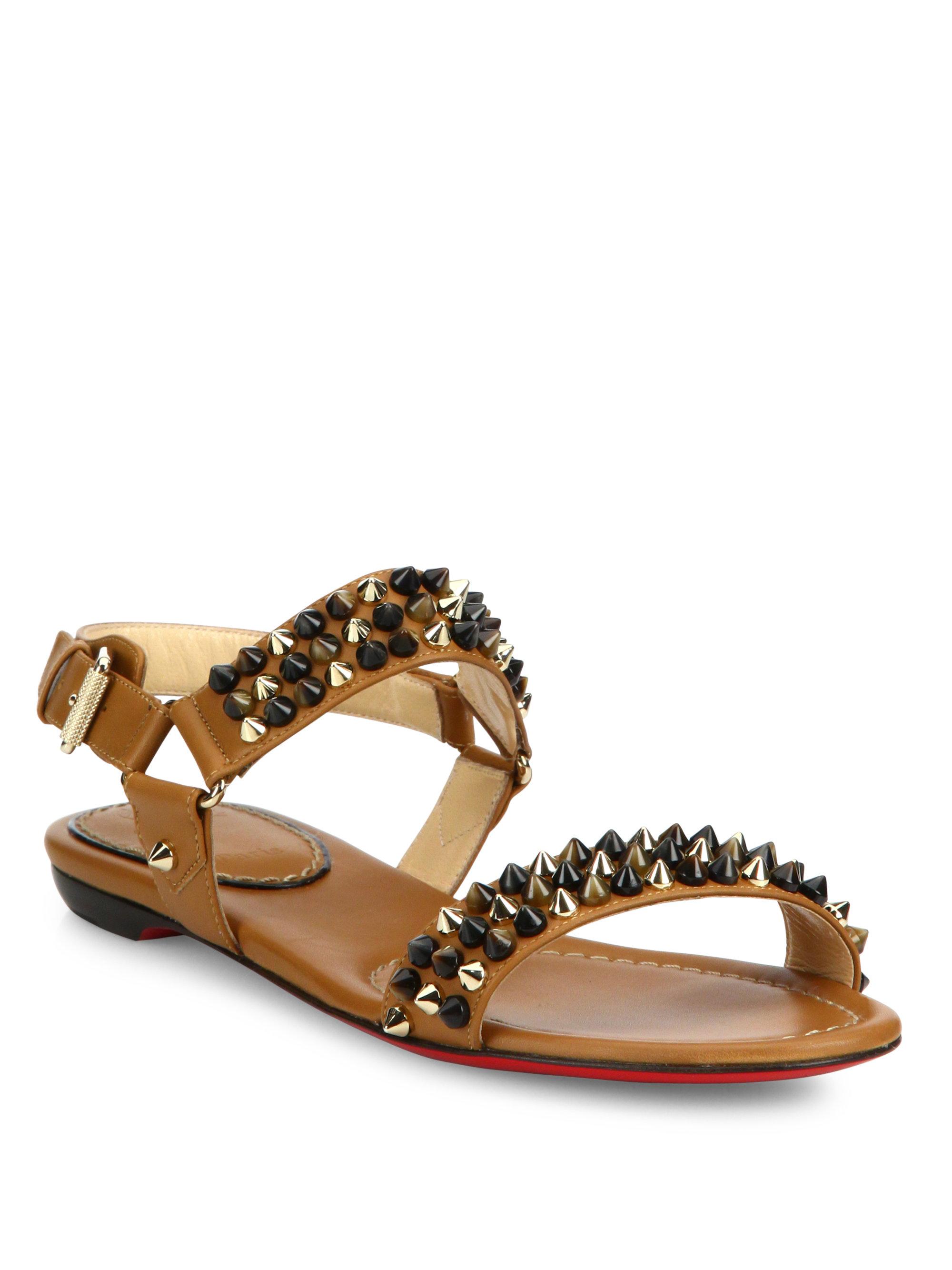 7adbfe2b4af real louboutin flat sandals 4e9ff 23281