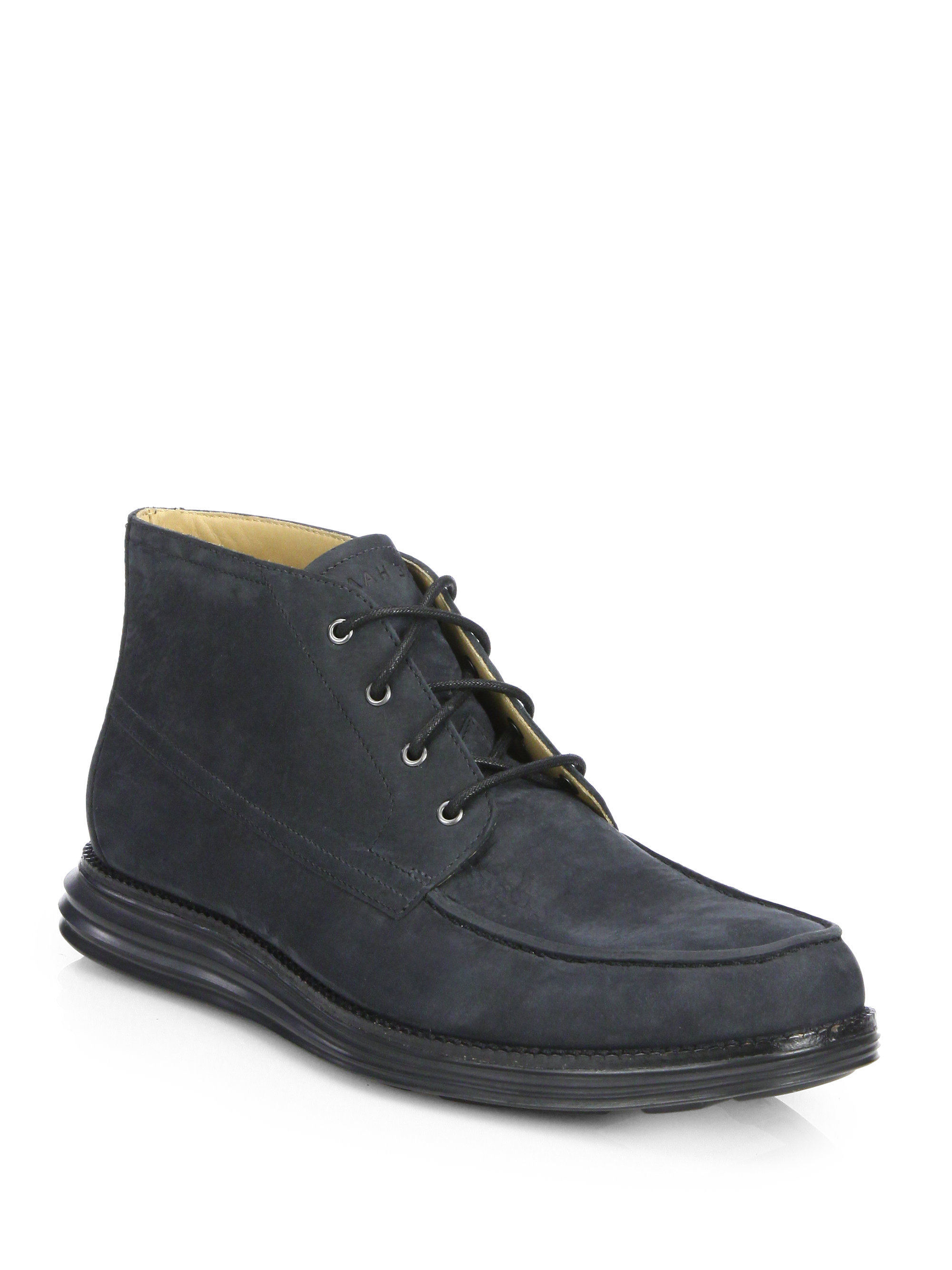 Lyst Cole Haan Lunargrand Moc Chukka Boots In Blue For Men