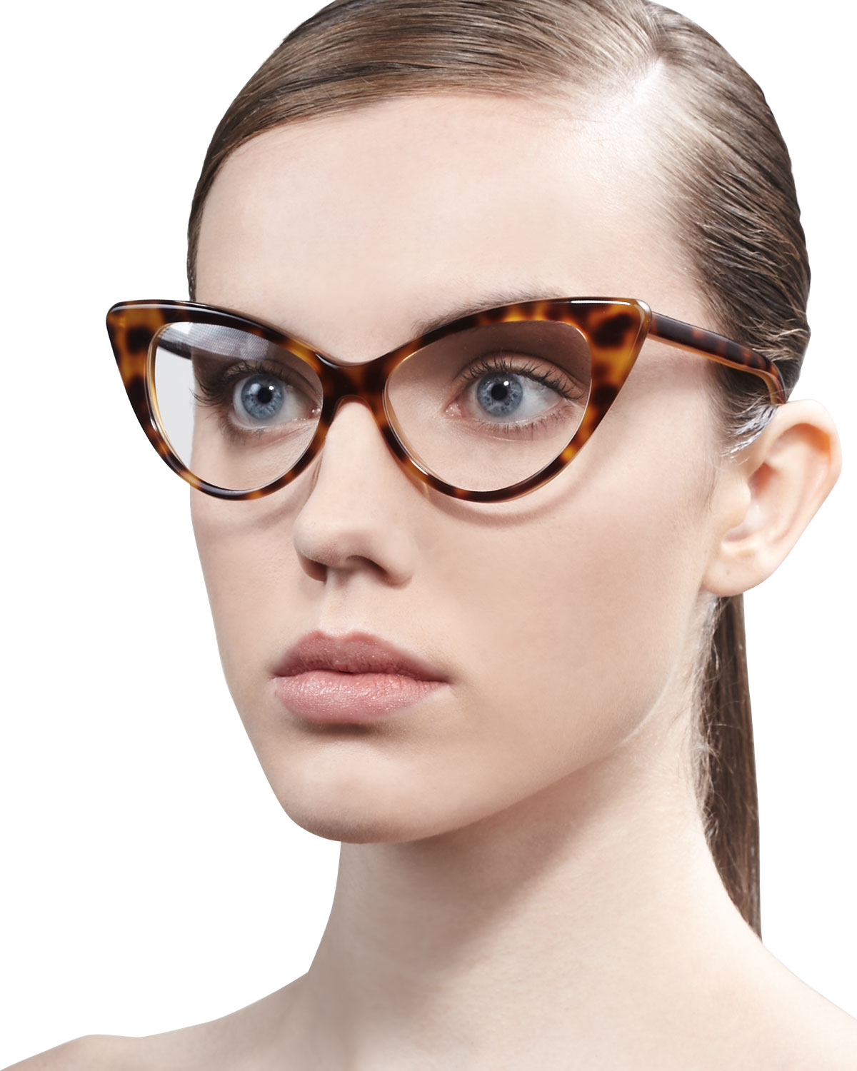 Lyst Tom Ford Cateye Glasses In Brown