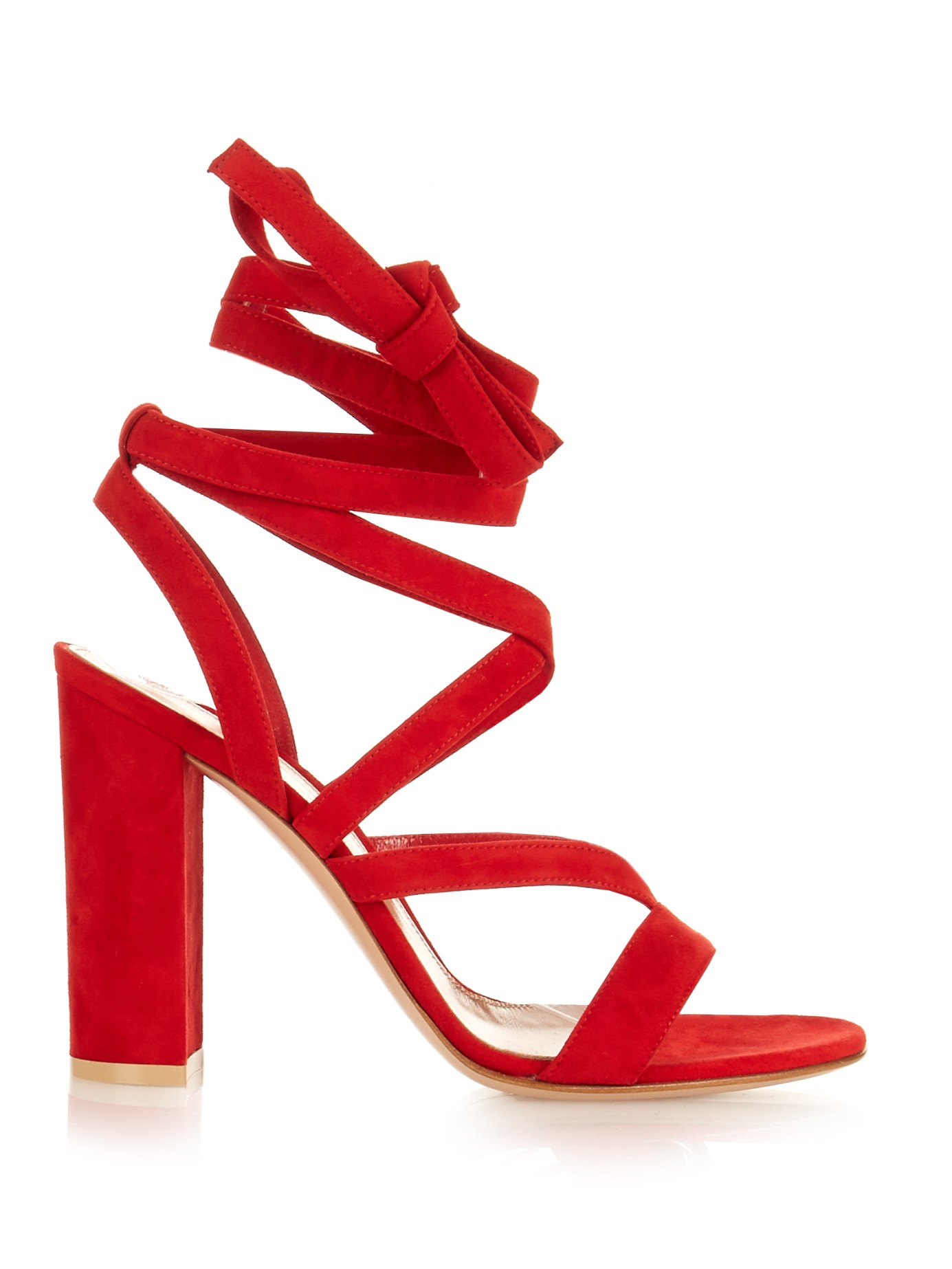 394f3b72e2c Lyst - Gianvito Rossi Janis Suede Sandals in Red