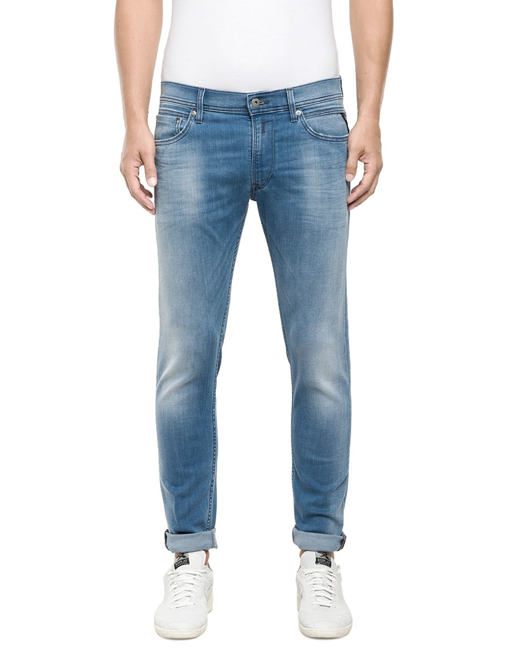 Replay 99 Jondrill Skinny Fit Jeans in Blue for Men | Lyst