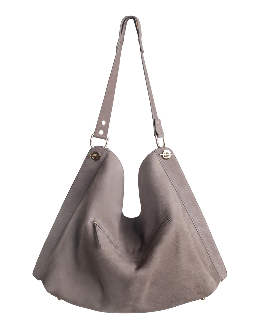Zimmermann Slouch Weekender Suede Shoulder Bag in Gray | Lyst