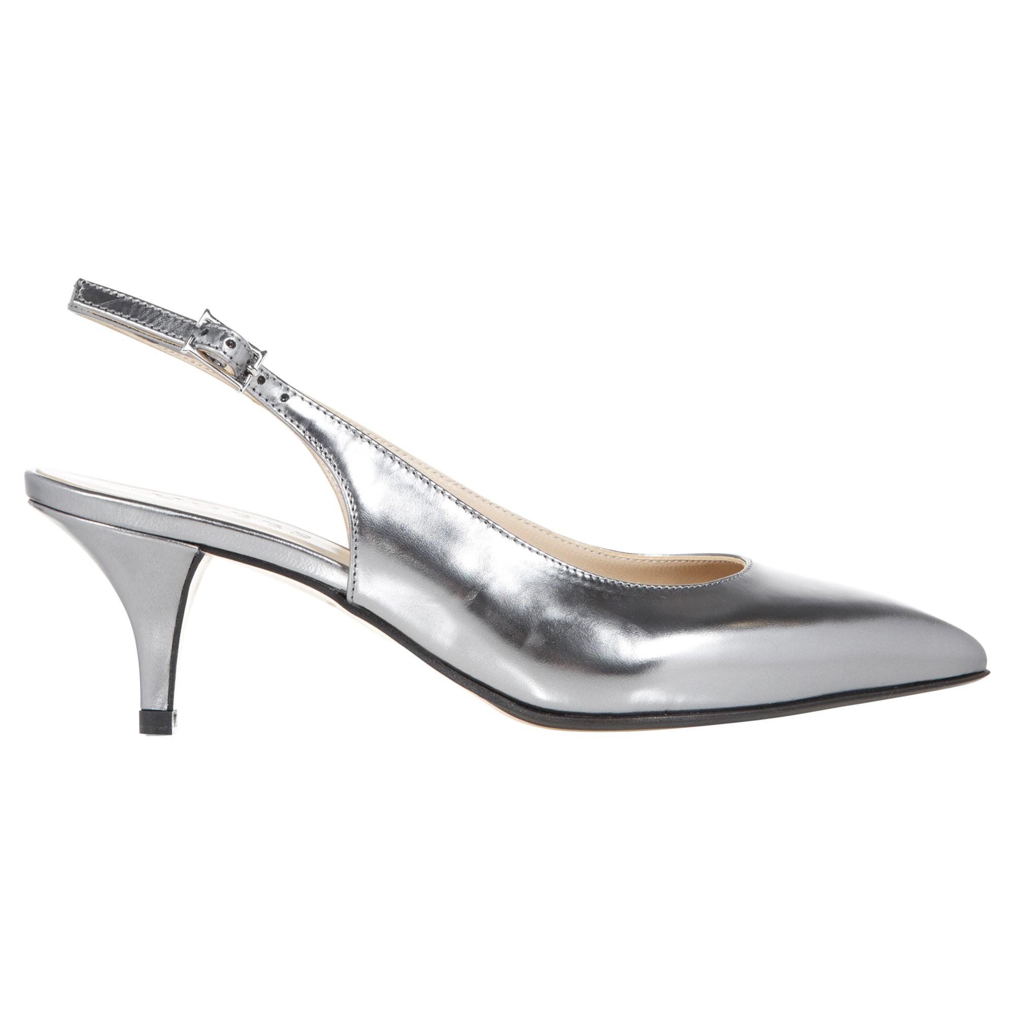 3baa02baa31 Hobbs Invitation Lillian Slingback Kitten Heels in Metallic - Lyst