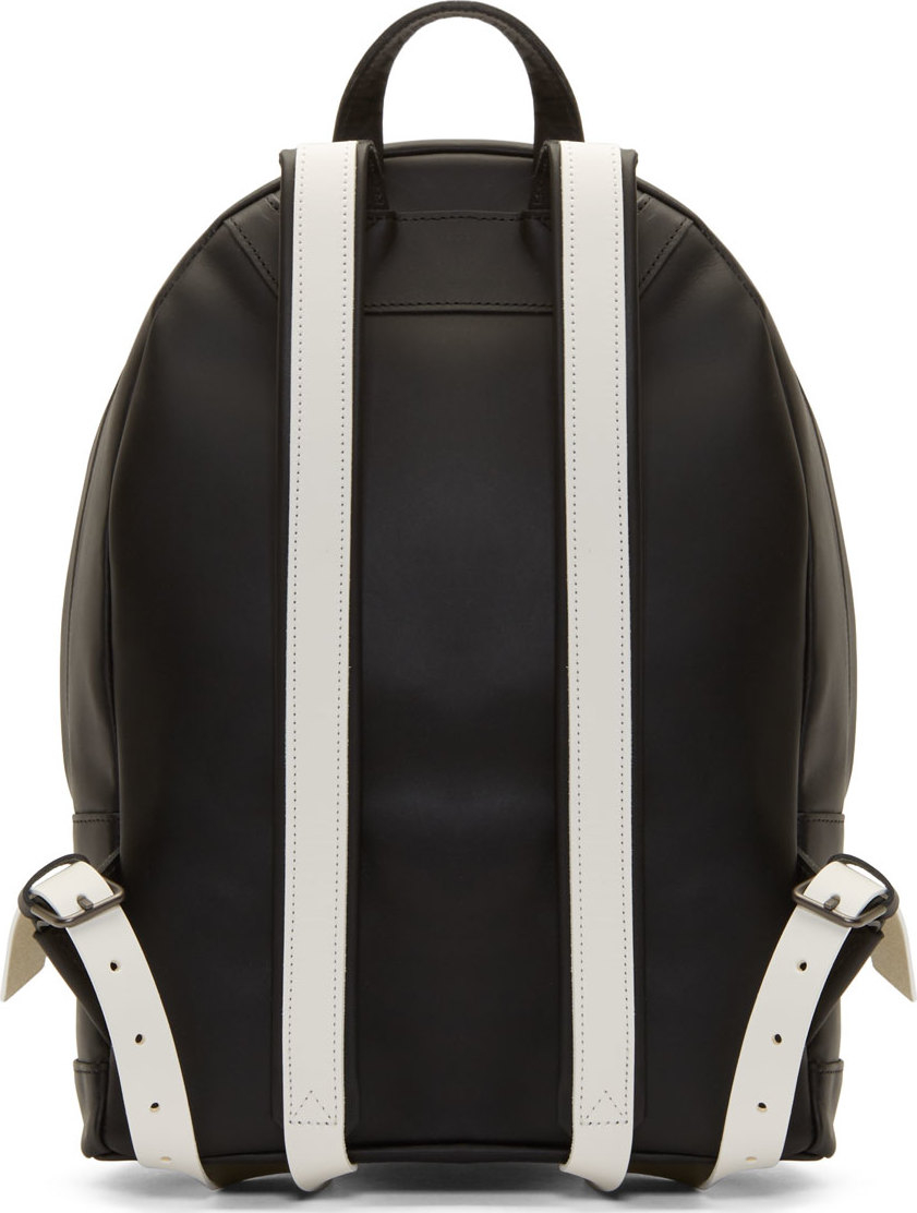 Lyst - PB 0110 Ssense Exclusive Black And White Matte Leather Small ... 8b4e67f4962b9