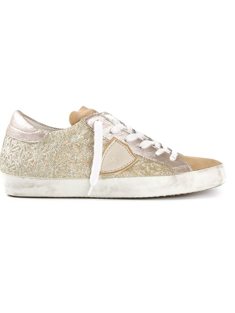 glittery platform sneakers - Metallic Philippe Model For Nice For Sale Cheap Footlocker Discount Visit New 2018 Cool QjXMbE