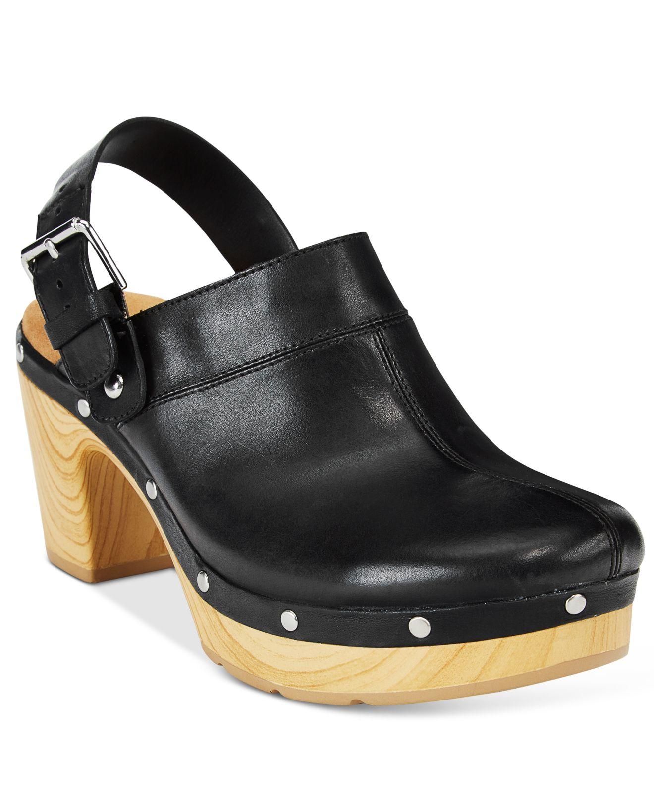 Clarks Black Slingback Shoes