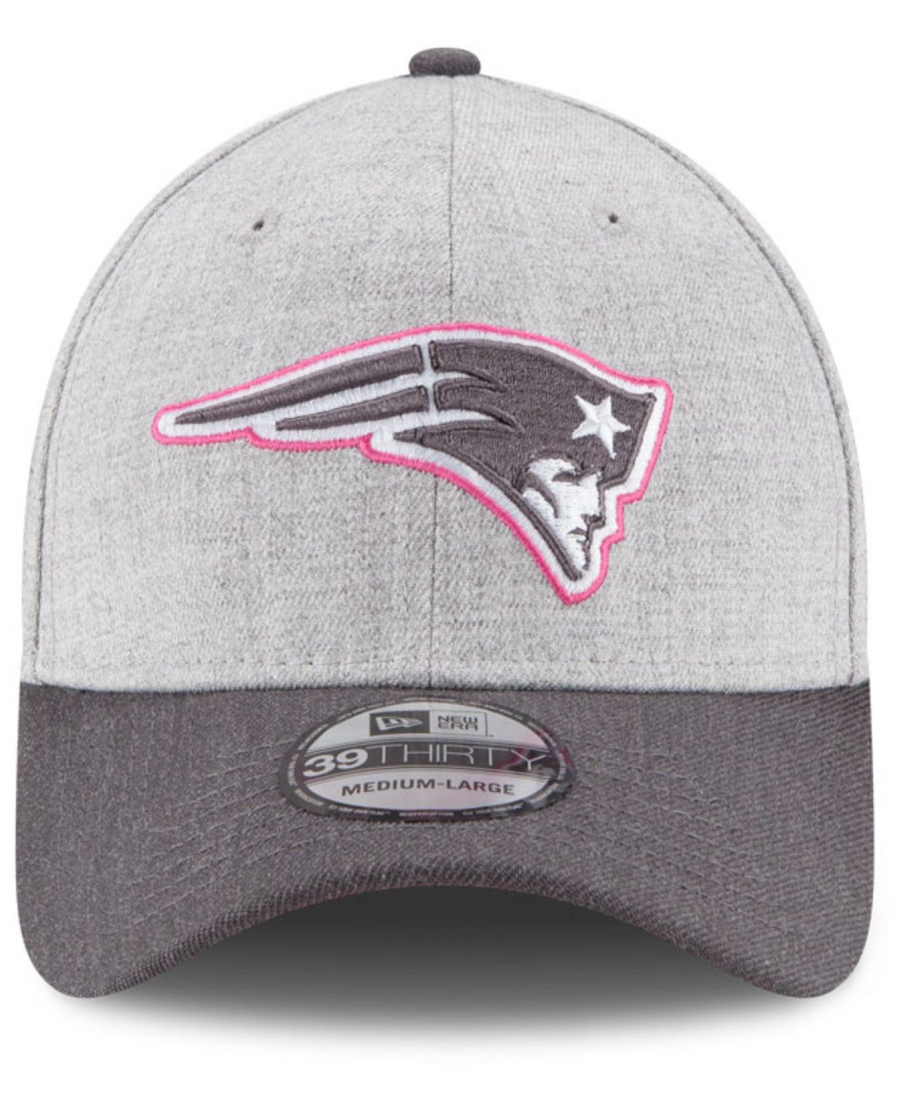 Lyst - KTZ New England Patriots Breast Cancer Awareness 39thirty Cap ... 5e106a5a5431