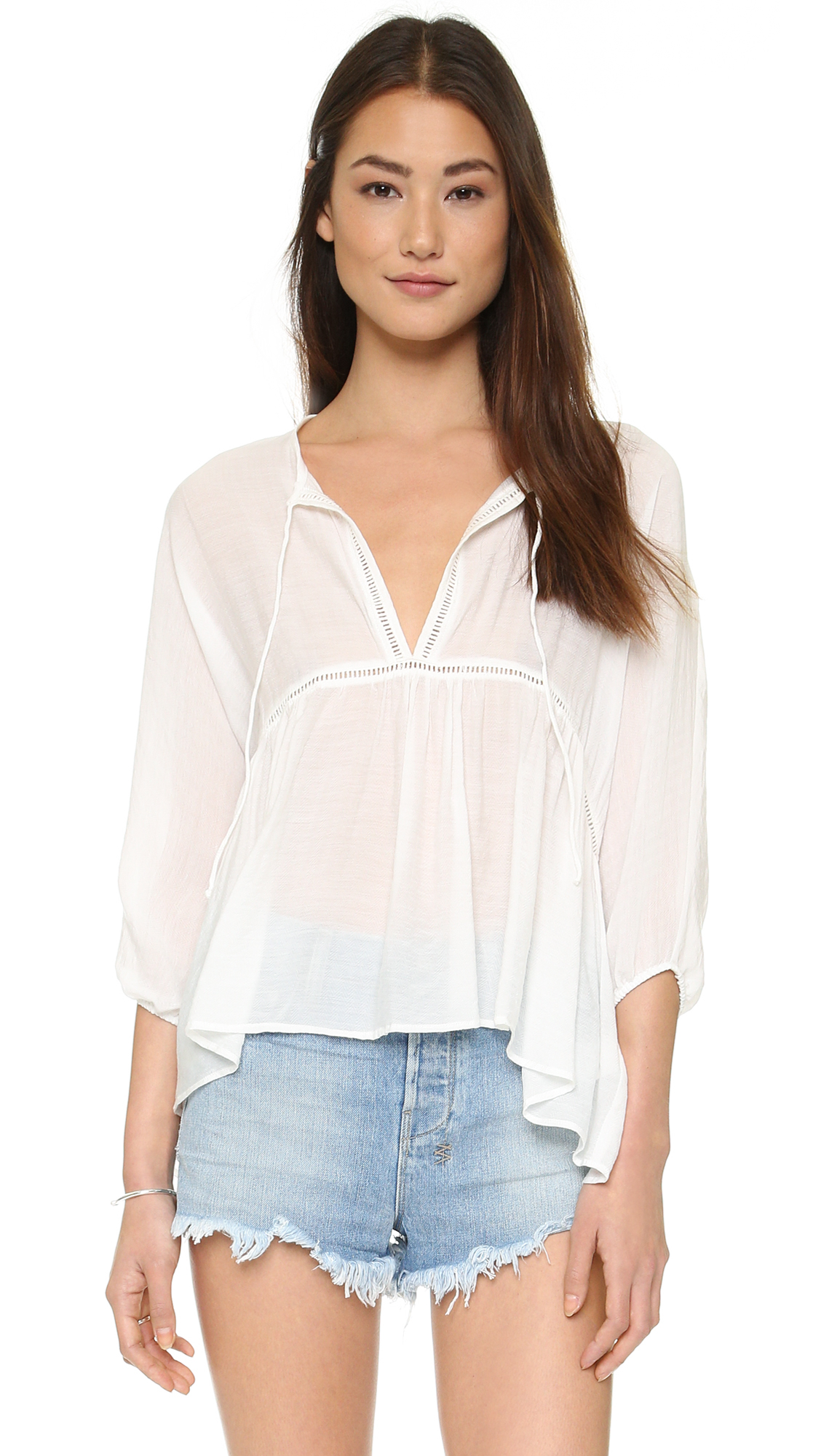 07d67a05c6adff Faithfull The Brand Palm Beach Top in White - Lyst