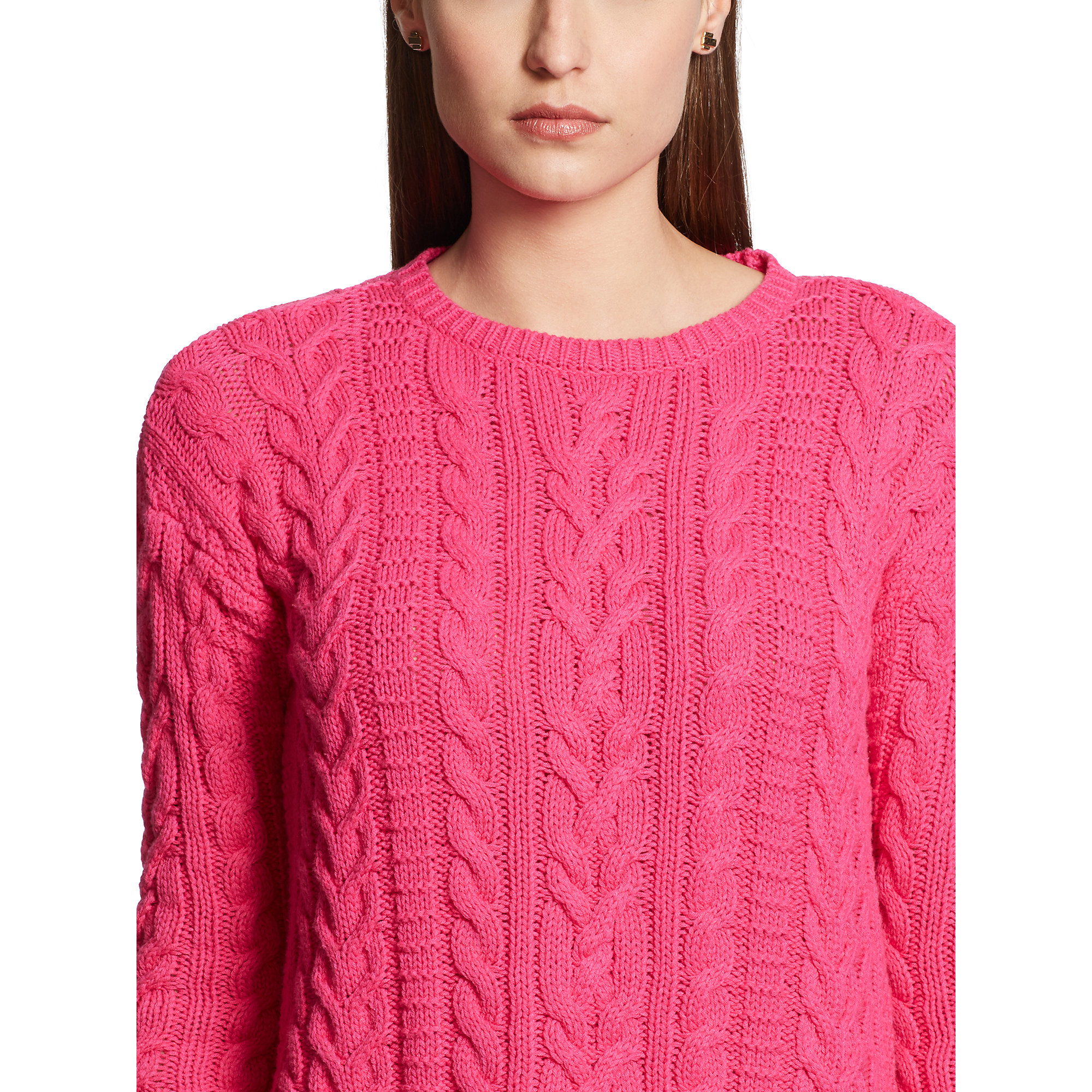 aed955038578 Lyst - Ralph Lauren Cable-knit Cotton Sweater in Pink