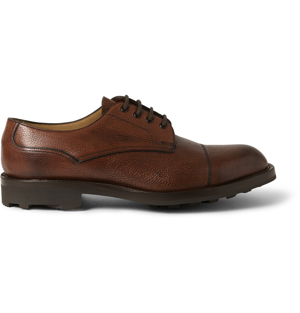 Derby Shoes Brown Pebble