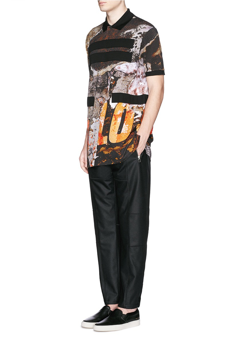 b62567cd7867 Lyst - Givenchy Love Wall Print Oversized Polo Shirt for Men
