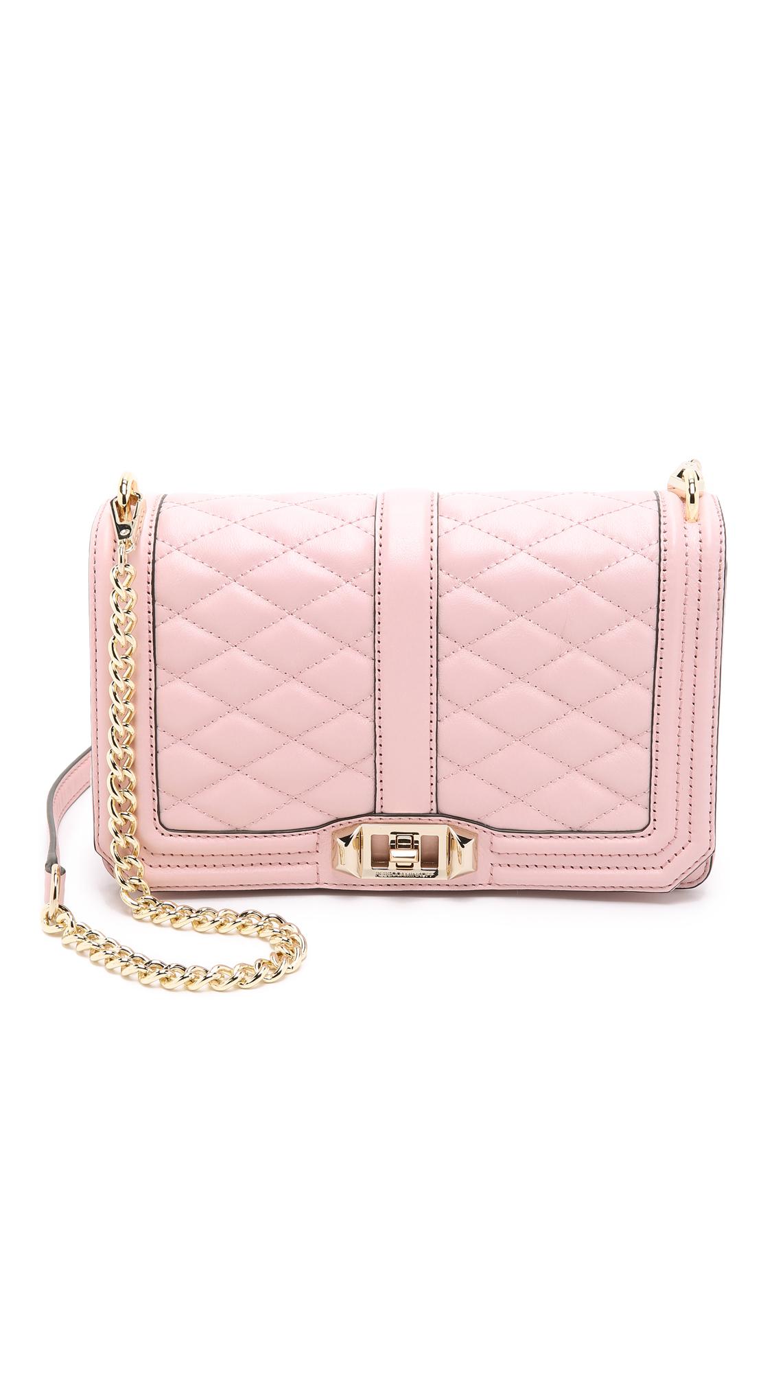 34235c12b5 Rebecca Minkoff Love Cross Body Bag in Pink - Lyst