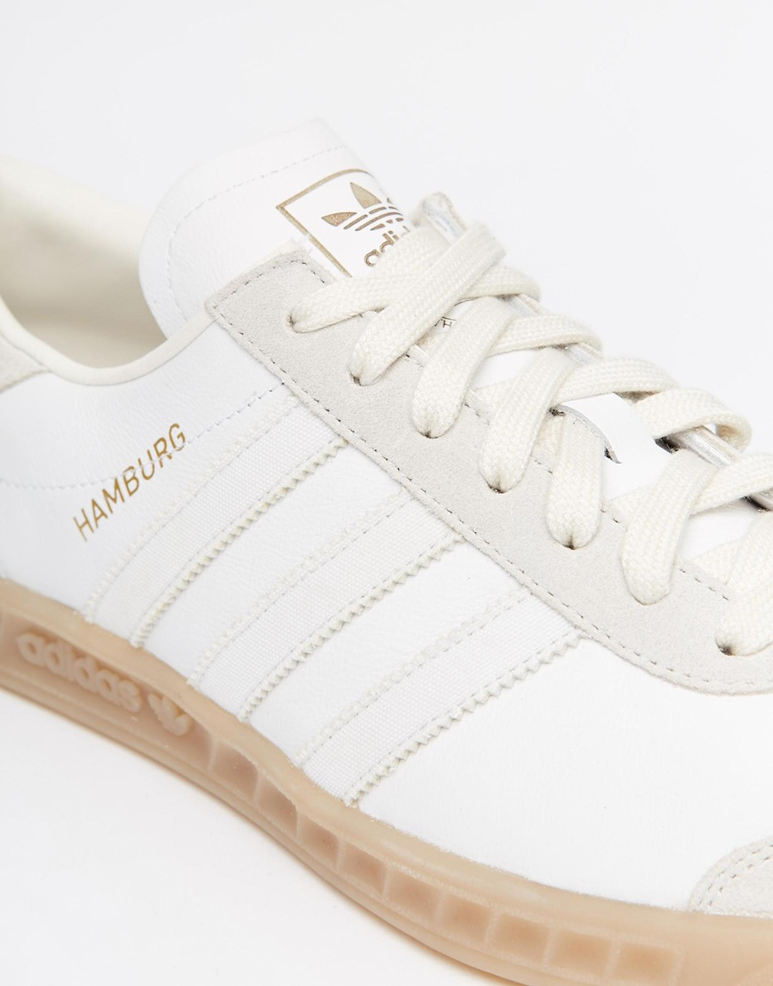 white adidas hamburg trainers