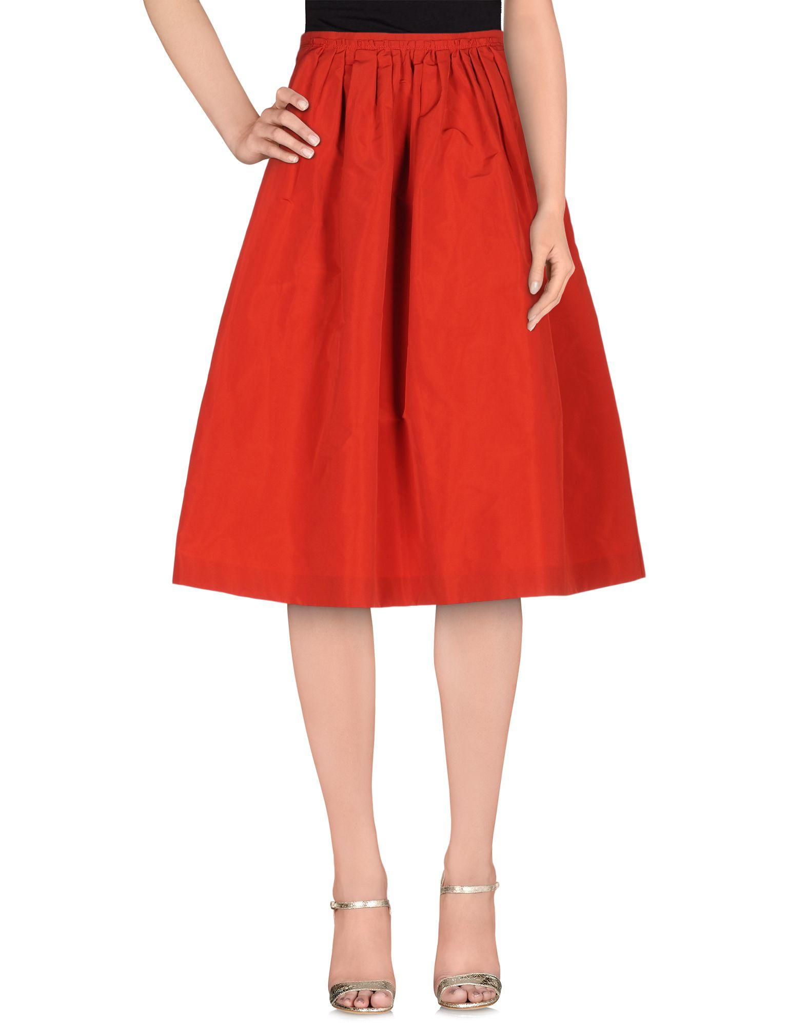 burberry 3 4 length skirt in lyst