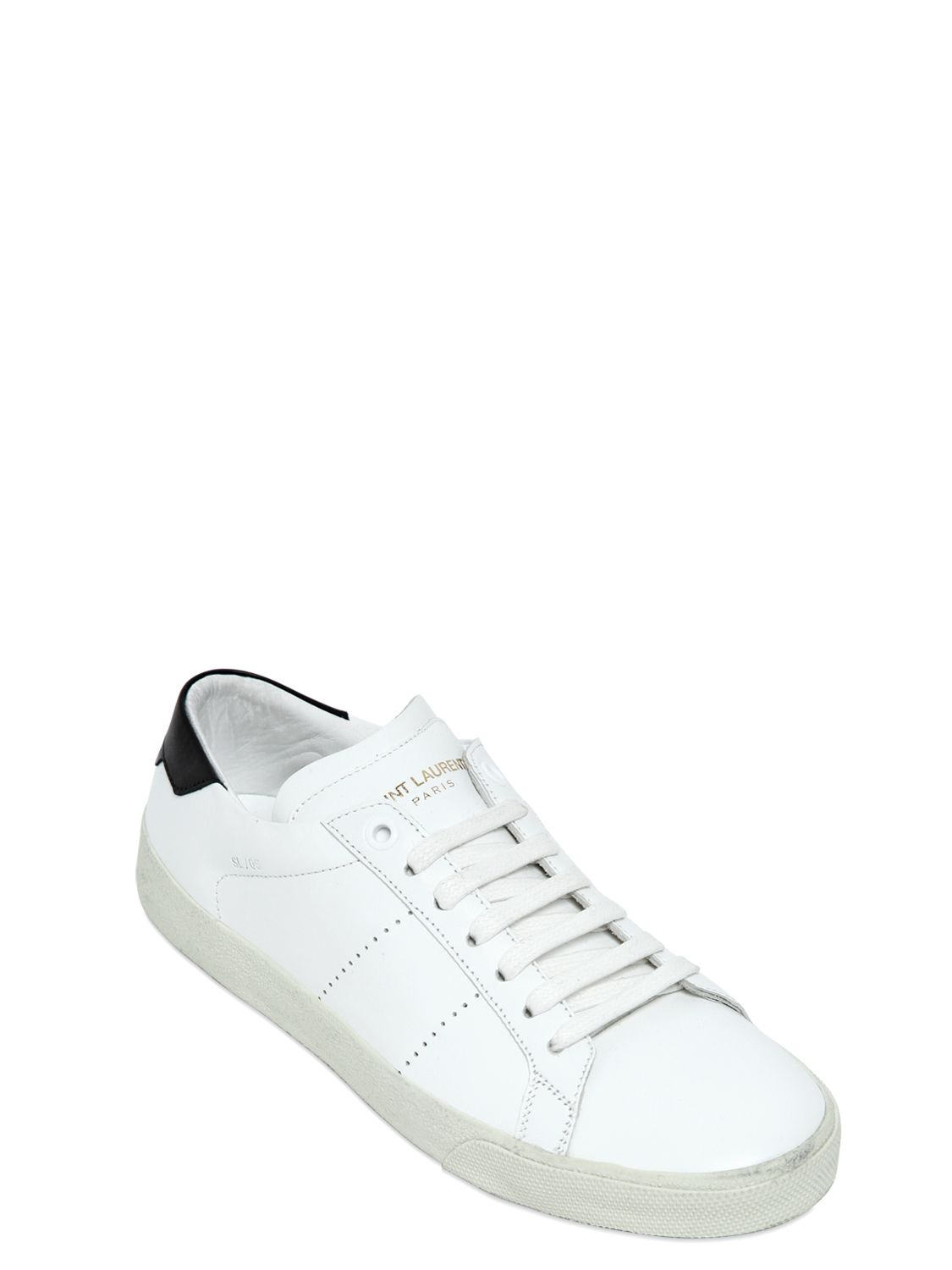 nicekicks for sale Saint Laurent White Court Classic Sneakers low price fee shipping PTJ2t