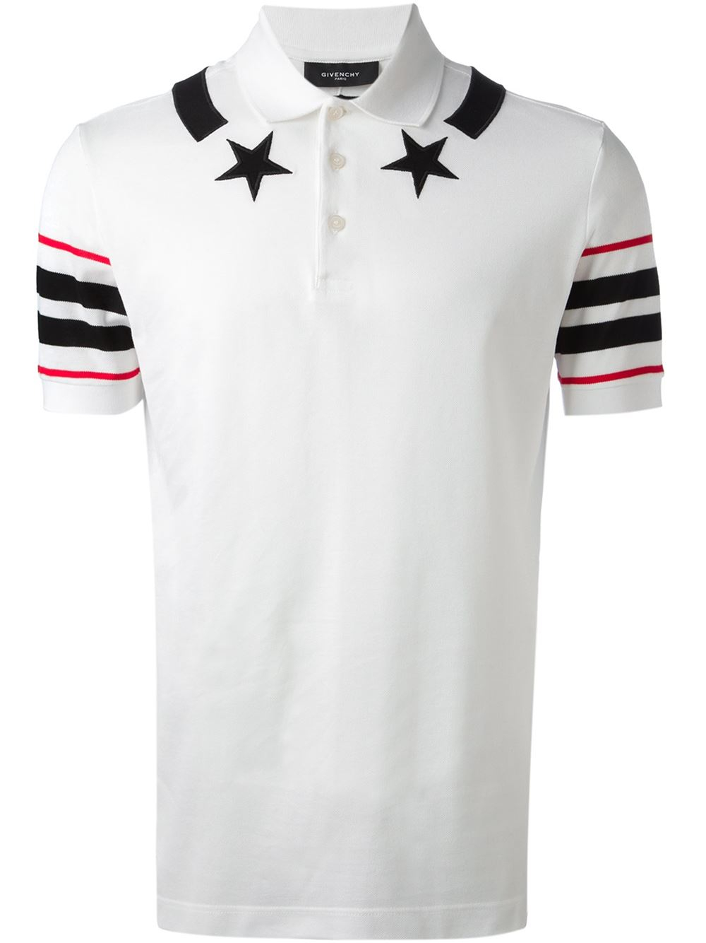Givenchy star detail tshirt in white for men lyst for Givenchy t shirt man