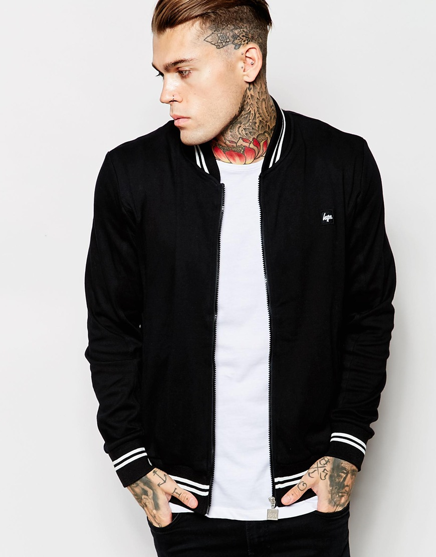 Hype Track Jacket in Black for Men | Lyst