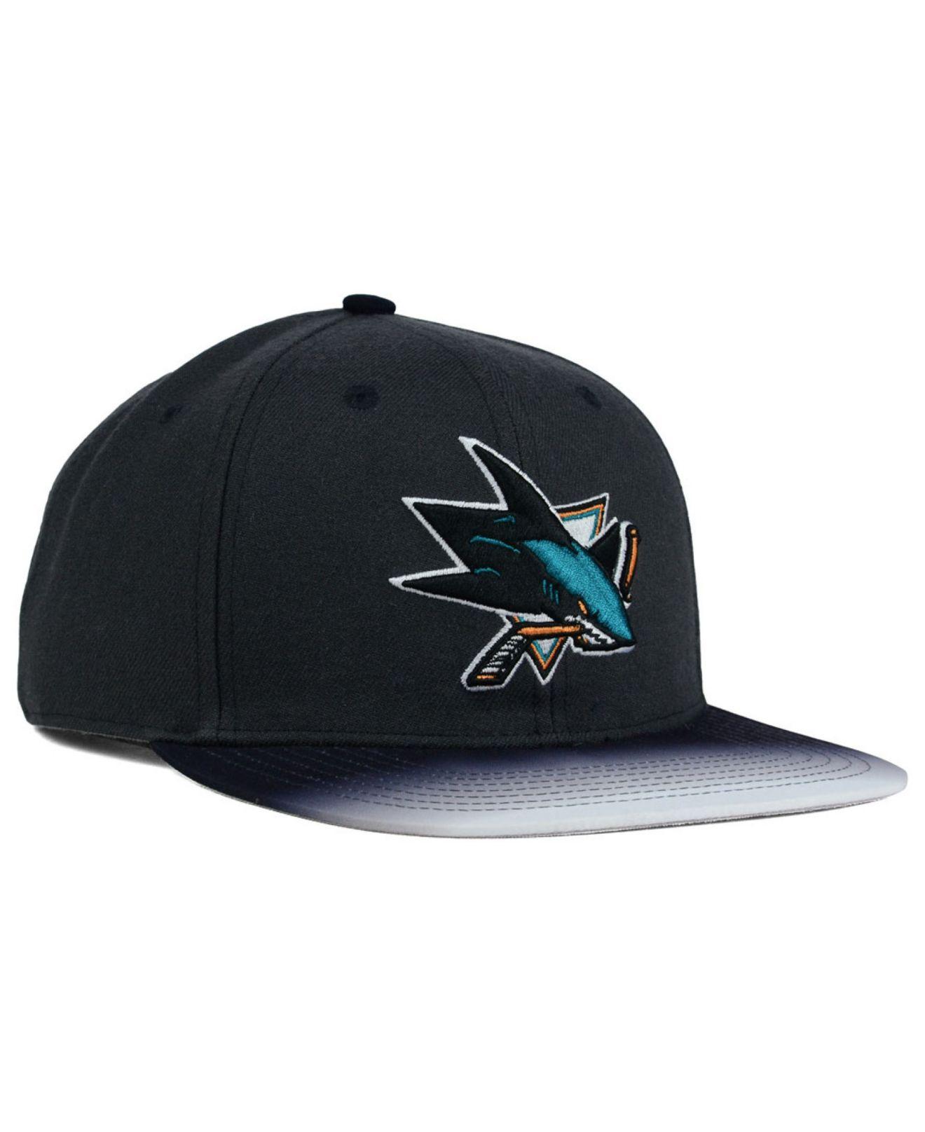 1296b7614c3f2 47 brand San Jose Sharks Dissolve Snapback Cap in Gray for Men