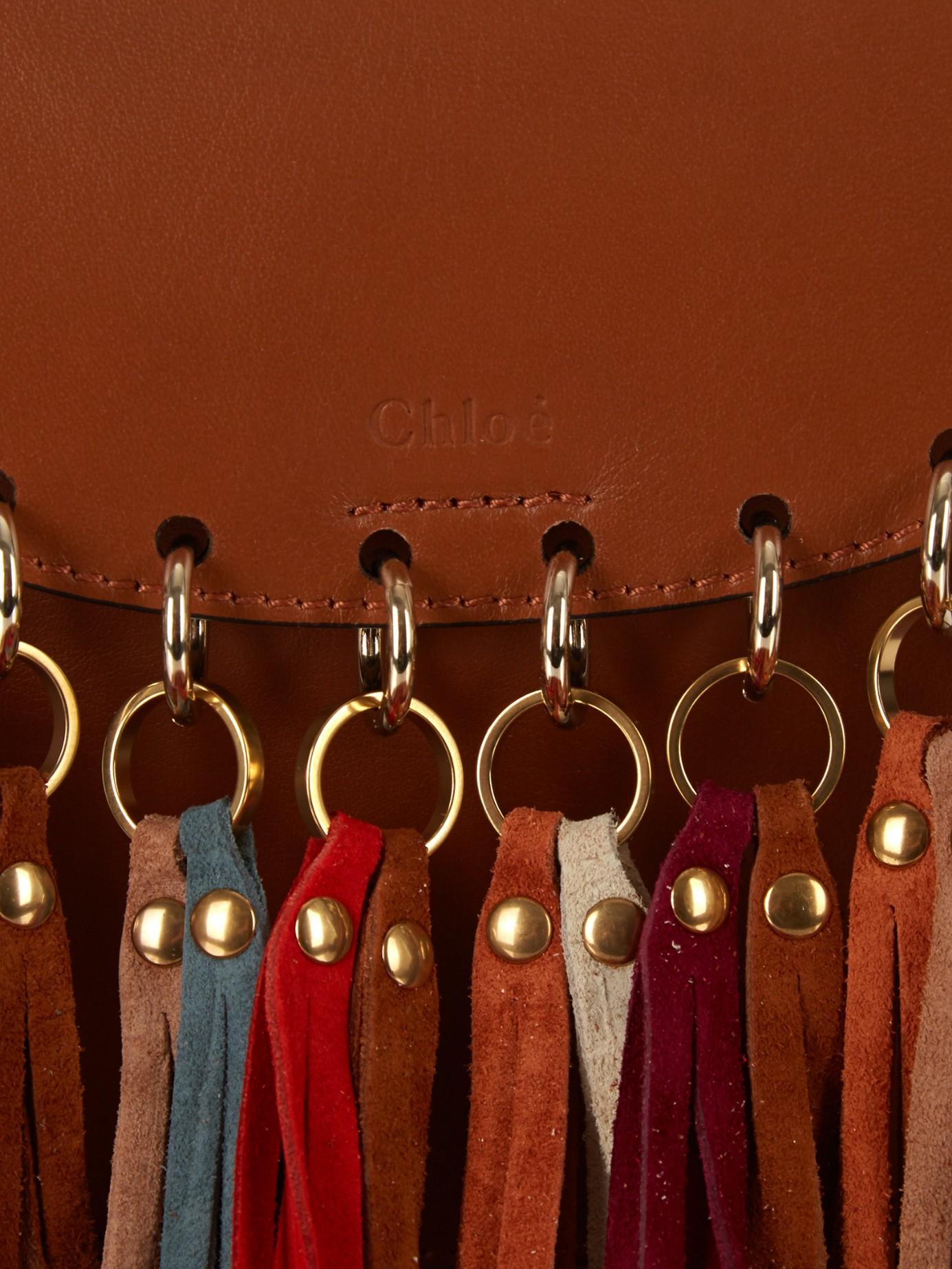 bag chloe - Chlo�� Hudson Suede Tassel Leather Cross-Body Bag in Brown (TAN) | Lyst