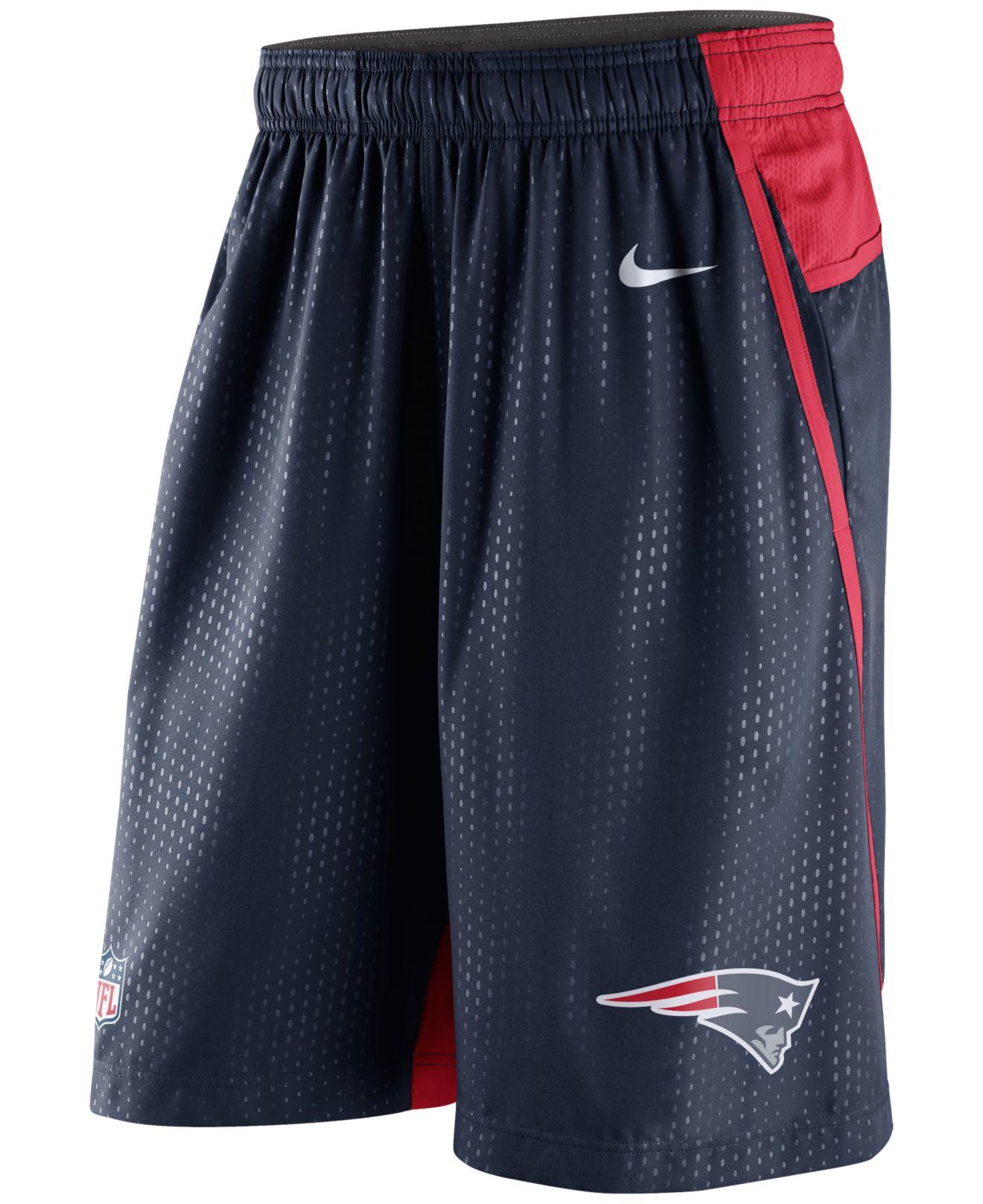 Nike Men S New England Patriots Dri Fit Fly Xl 3 0 Shorts