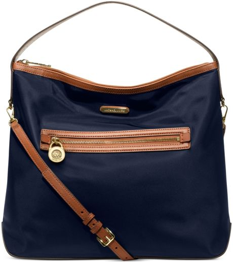 Michael Kors Kempton Large Shoulder Bag in Blue (NAVY)