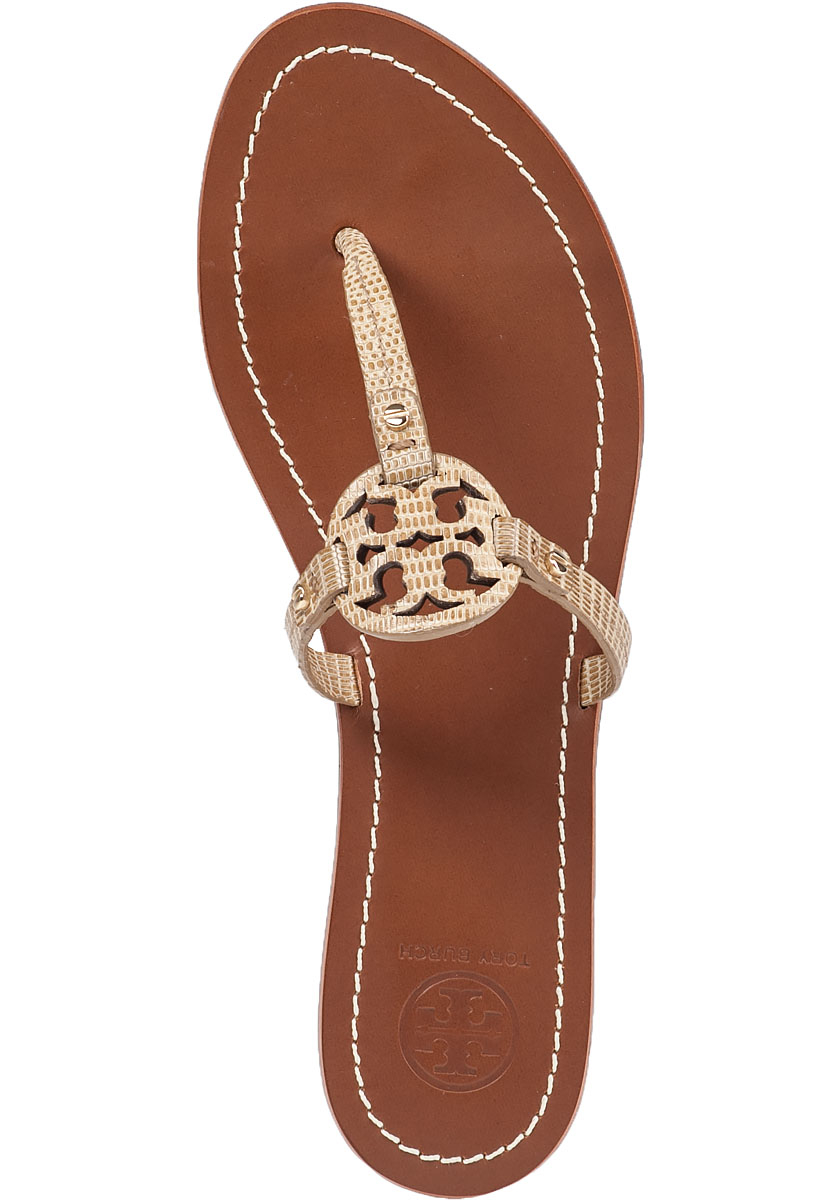 46849ccf373b Lyst - Tory Burch Mini Miller Flat Sandals in Natural