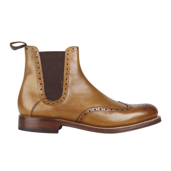 grenson men 39 s jacob chelsea boots in brown lyst. Black Bedroom Furniture Sets. Home Design Ideas