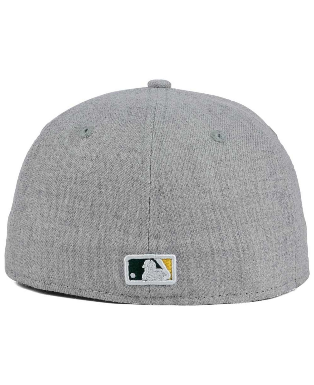 sports shoes 27783 f90a8 Lyst - KTZ Oakland Athletics Heather Team Color 59fifty Cap in Gray ...