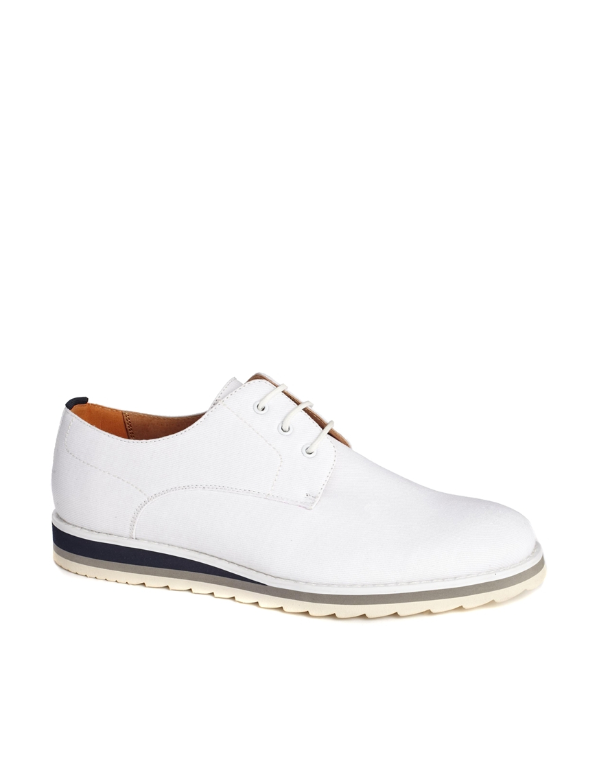 Asos White Derby Shoes