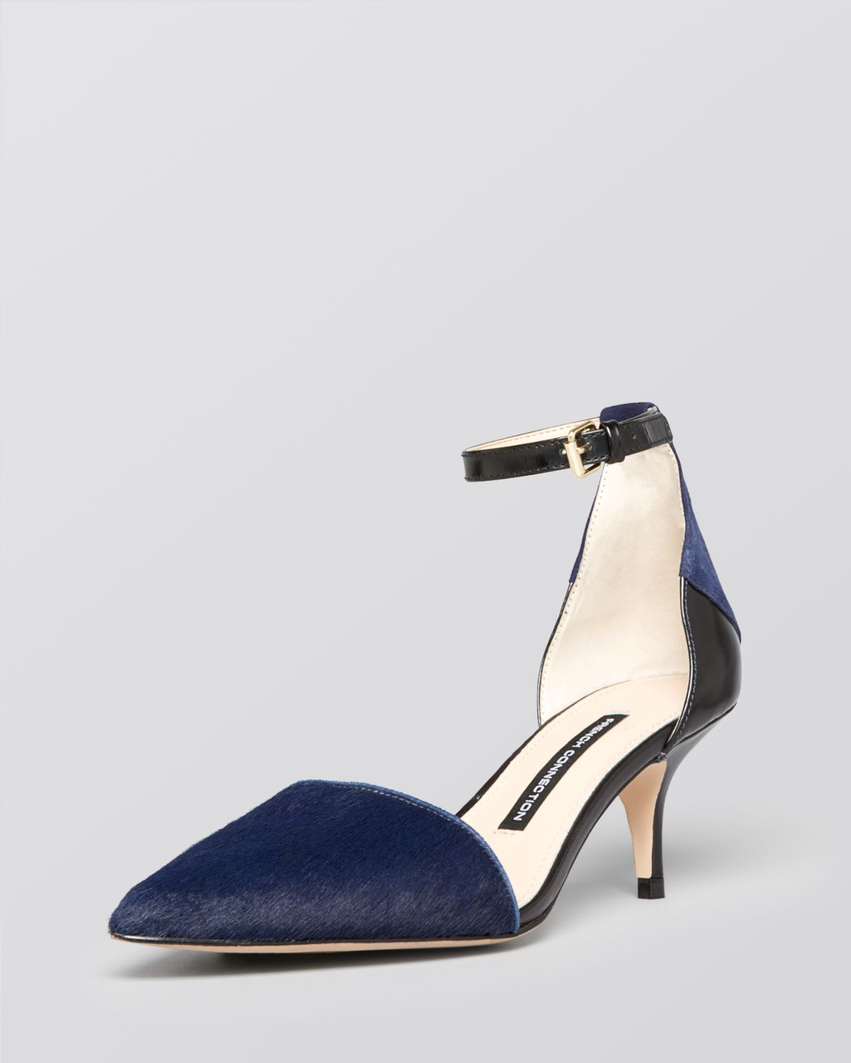Navy Kitten Heel Pumps | Fs Heel