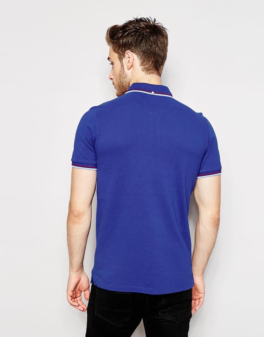 ben sherman polo shirt in blue for men lyst. Black Bedroom Furniture Sets. Home Design Ideas