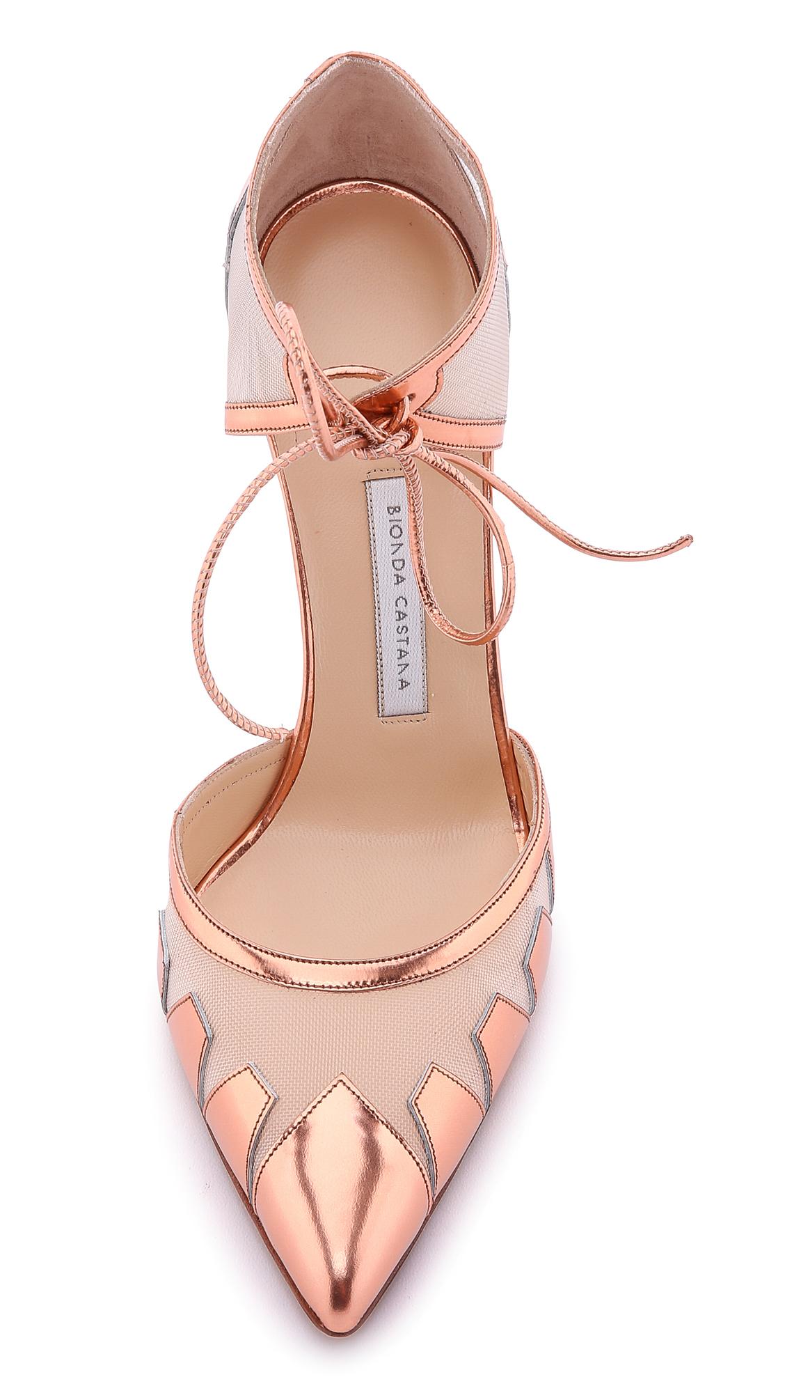 98c386bcaccf Bionda Castana Lana Metallic D Orsay Pumps - Rose Gold in Pink - Lyst