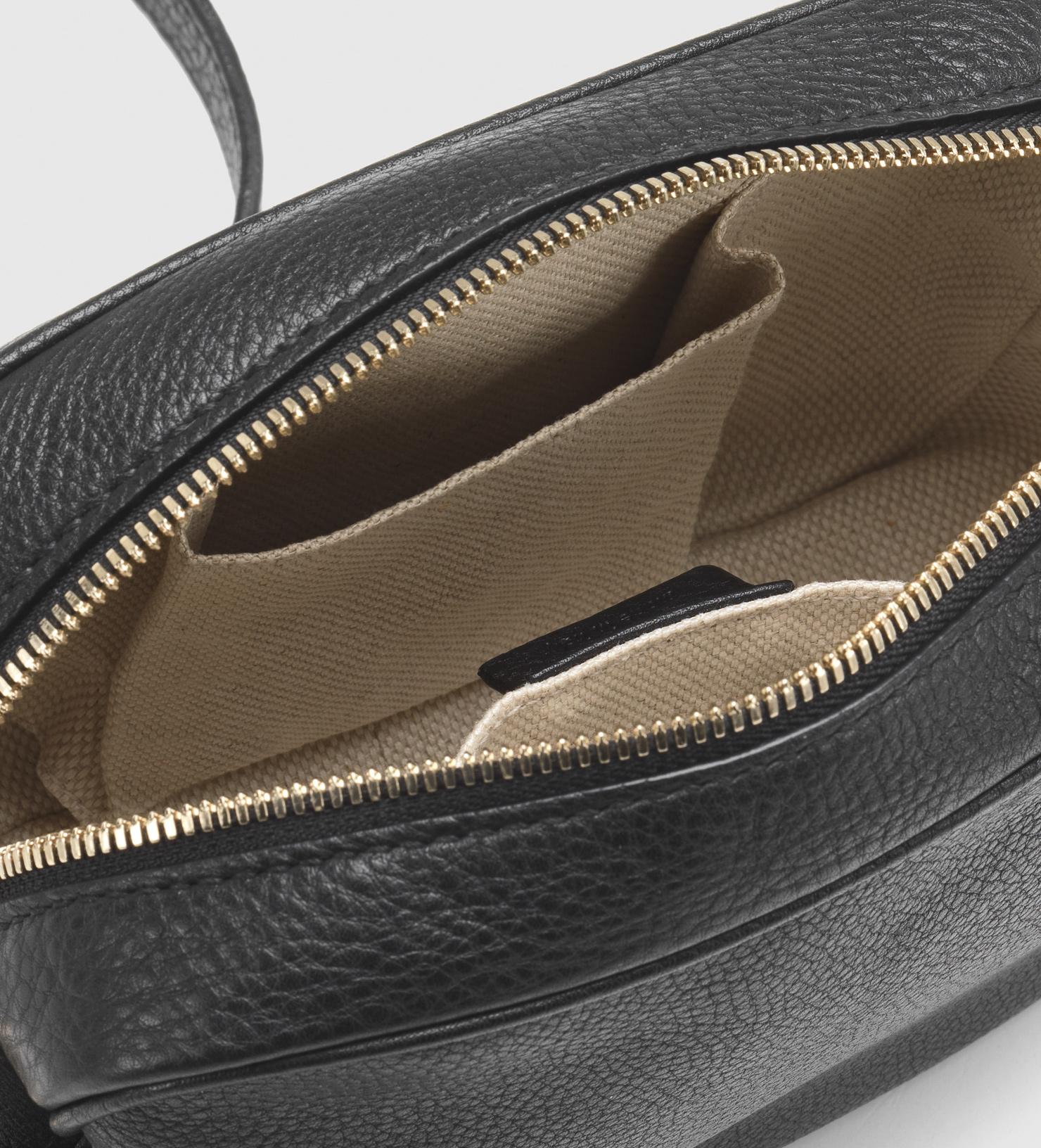669a7b69e09 Lyst - Gucci Soho Leather Disco Bag in Black