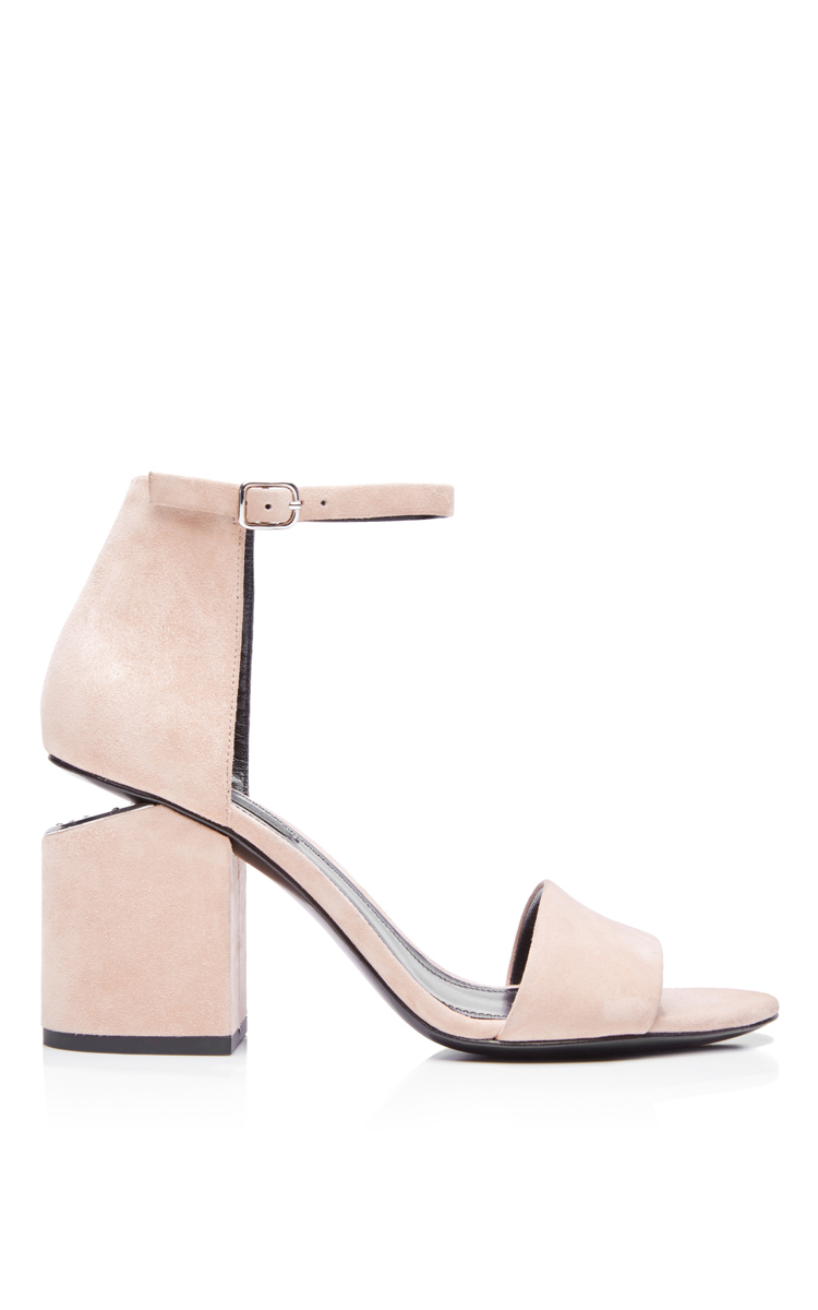 d6aaaa38ca46 Lyst - Alexander Wang Sand Suede Abby Sandals in Natural