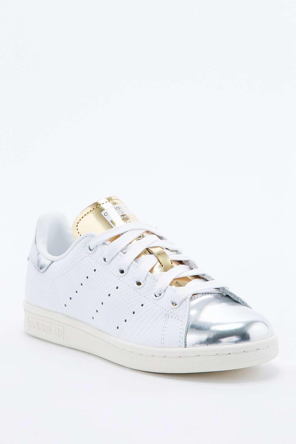 best website 76b41 54309 Adidas Stan Smith White Gold Silver