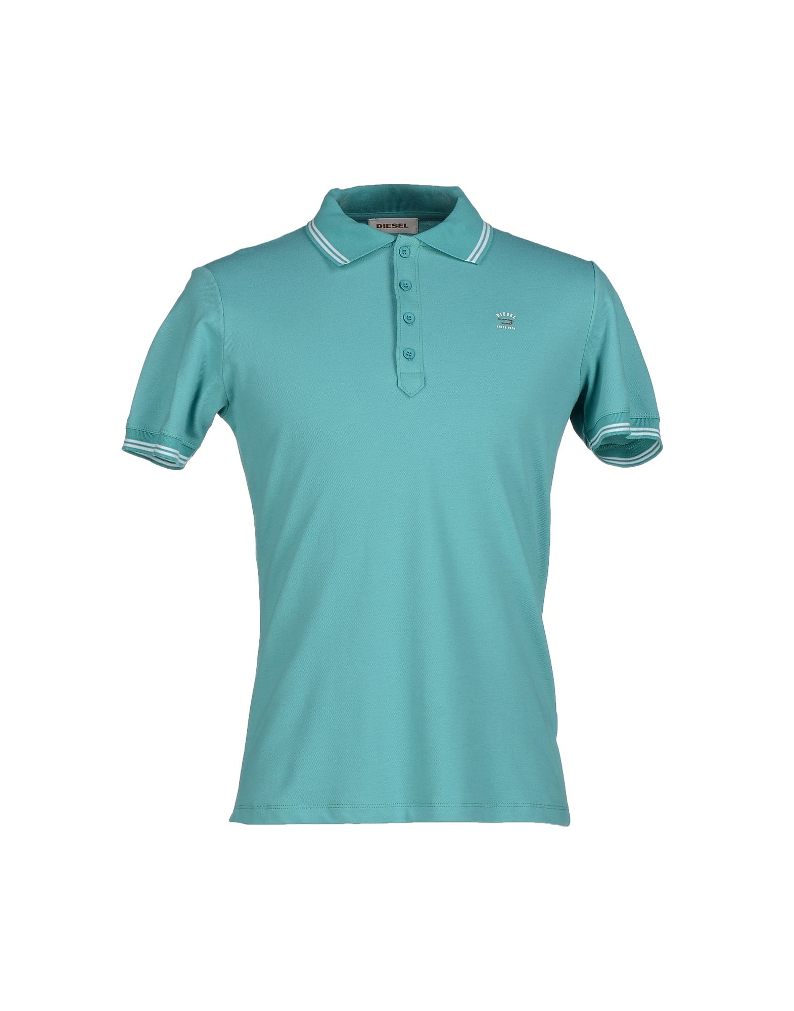 Diesel polo shirt in teal for men turquoise lyst for Mens teal polo shirt