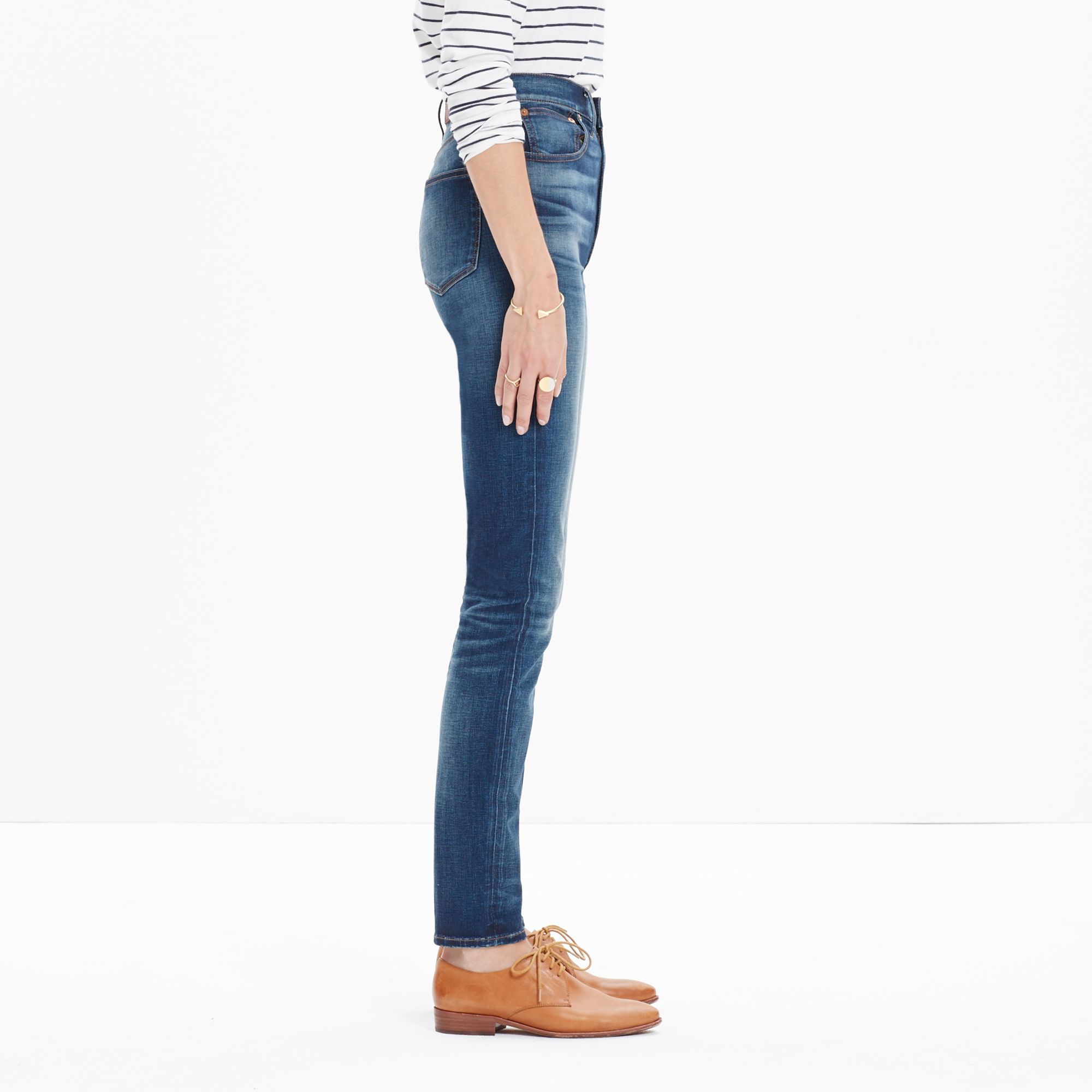 Madewell Rivet &amp Thread Extra-high Skinny Jeans In Bayshore Wash