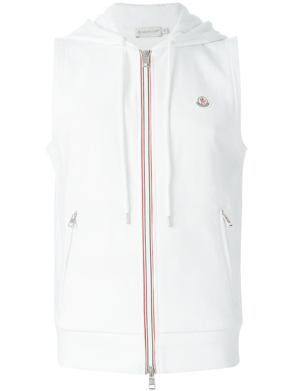 moncler white hoodie