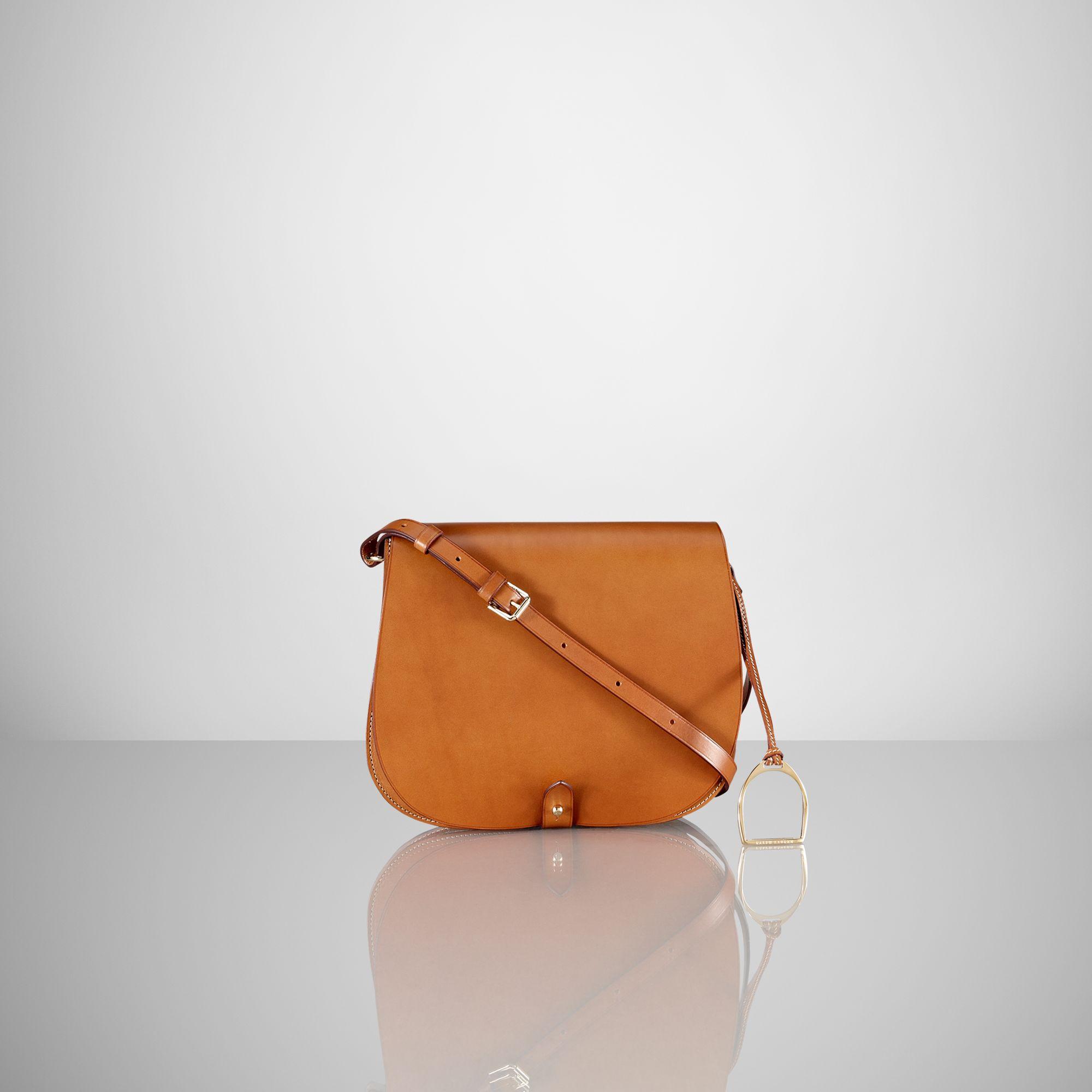 Ralph Lauren Equestrian Vachetta Saddle Bag in Orange - Lyst 30f4d99ed4