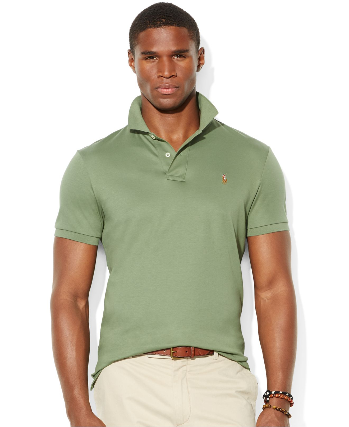 72c2b6dba413c Lyst - Polo Ralph Lauren Pima Soft-Touch Polo in Green for Men