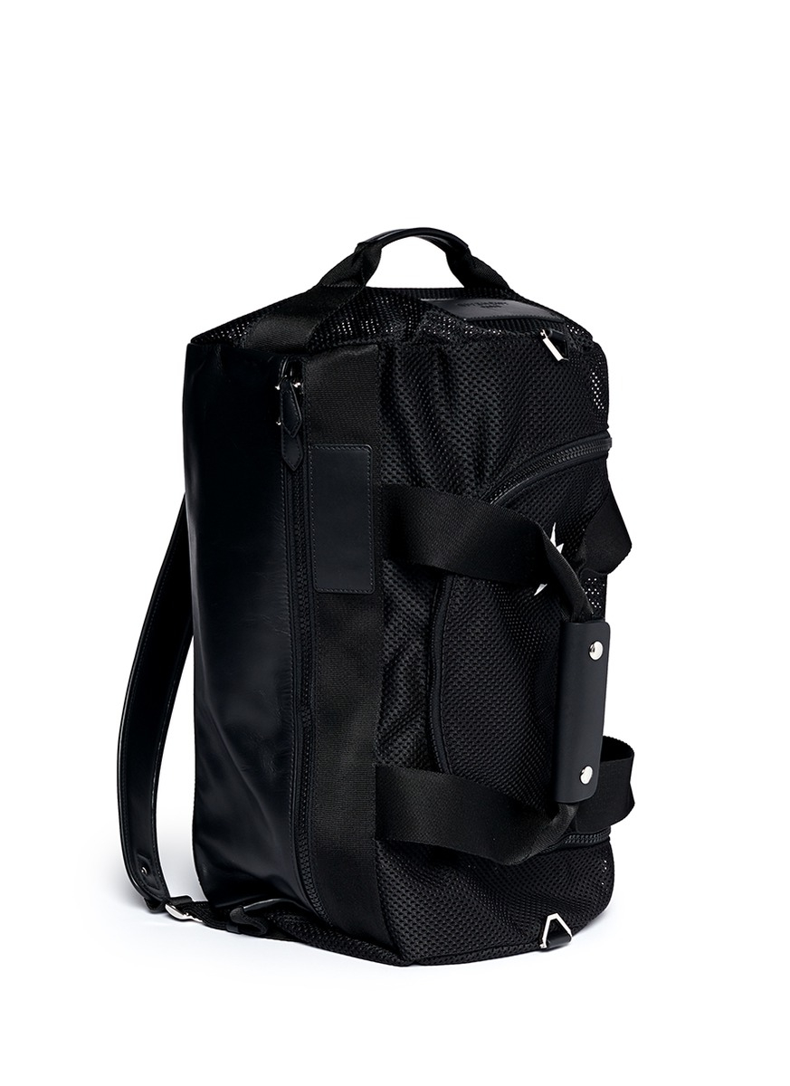 Lyst Givenchy Mesh Leather Duffle Backpack In Black For Men