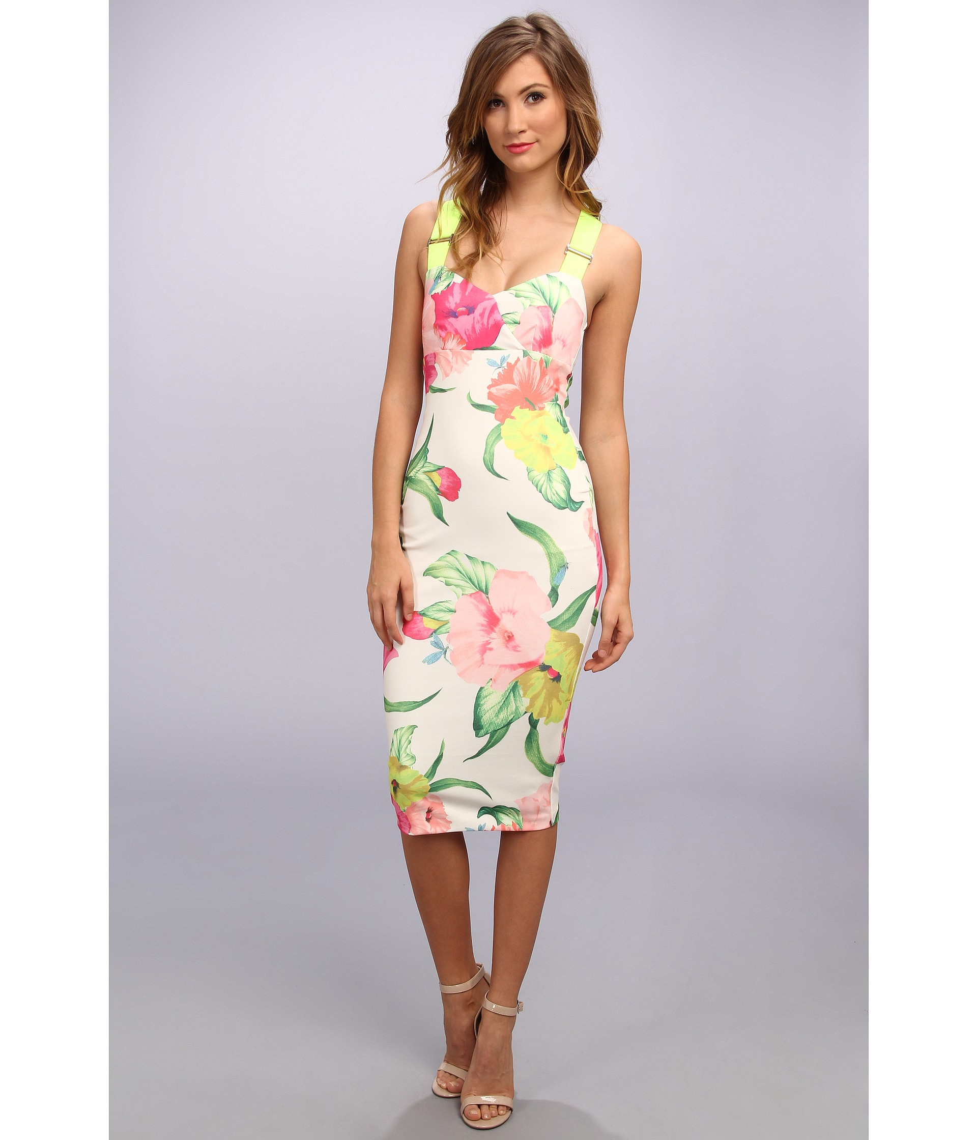 Lyst Ted Baker Taylor Flowers At High Tea Dress