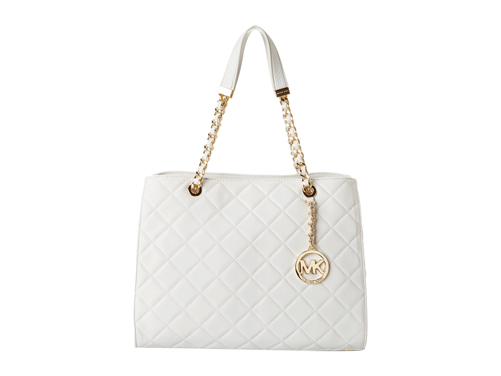 1e67d2ff2766 ... bag 85096 dba85  netherlands lyst michael michael kors susannah large  tote in white 05385 3442e