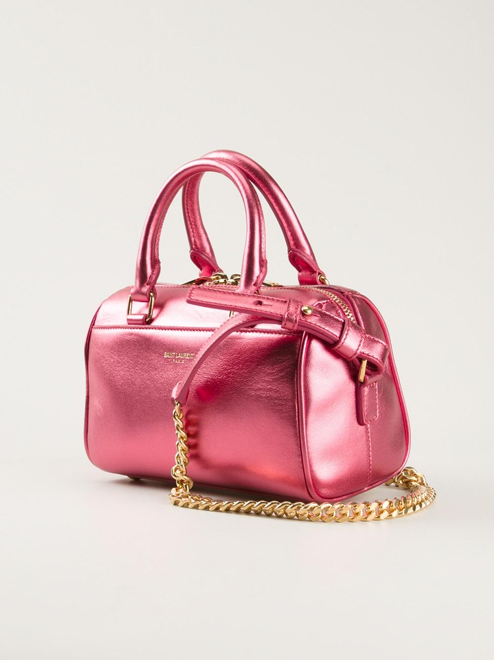 Saint Laurent Baby Duffle Shoulder Bag In Pink Lyst