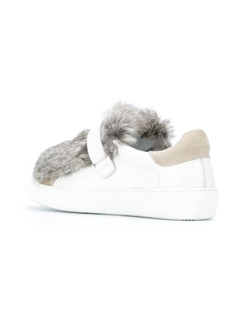 moncler fur sneakers